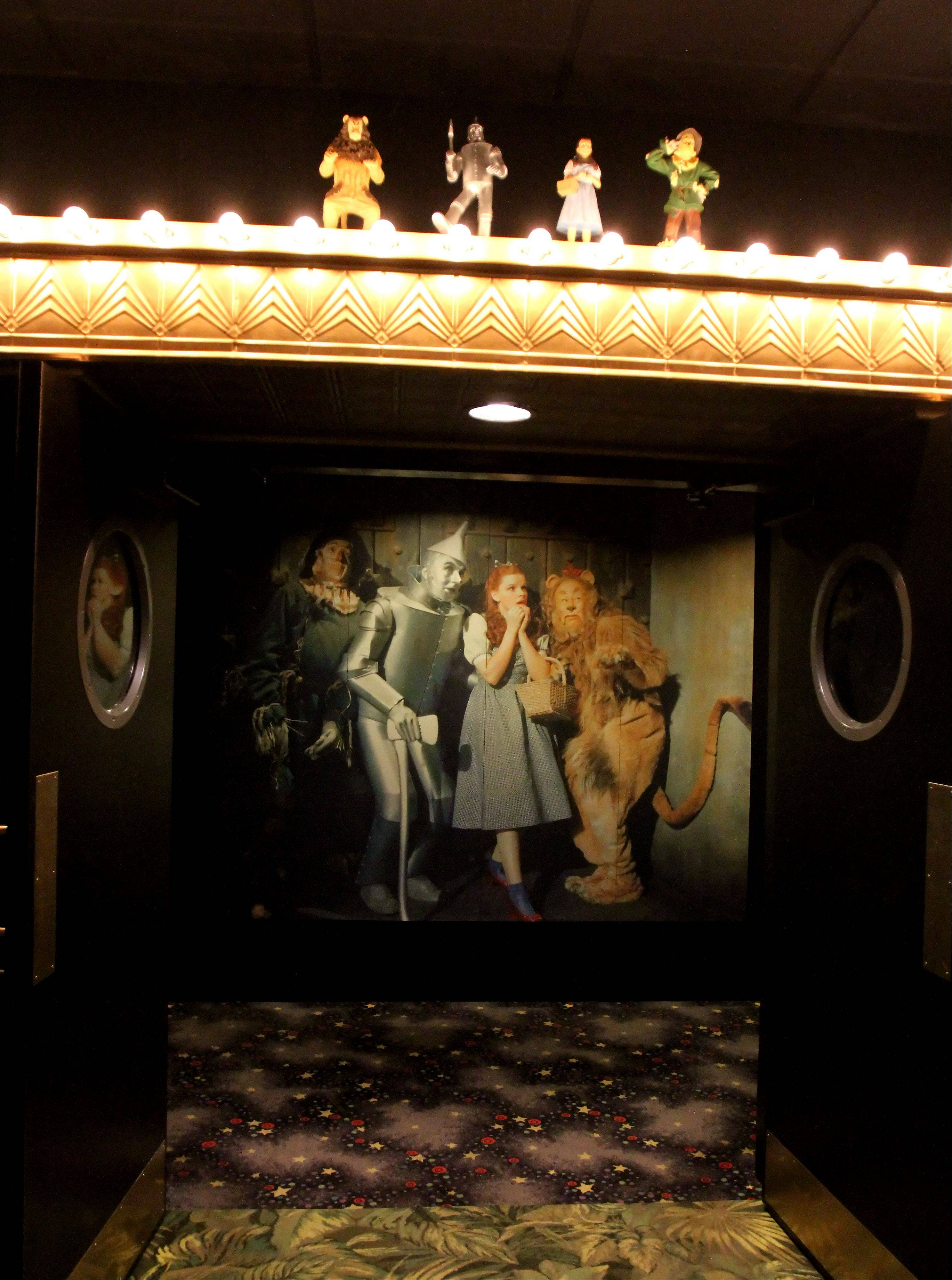 Entrance to the Wizard of Oz theater at the Hollywood Palms Cinema in Naperville.