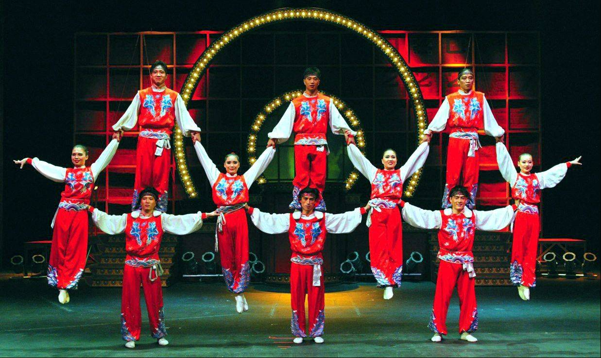 The Golden Dragon Acrobats will perform at the North Shore Center for the Performing Arts in Skokie.