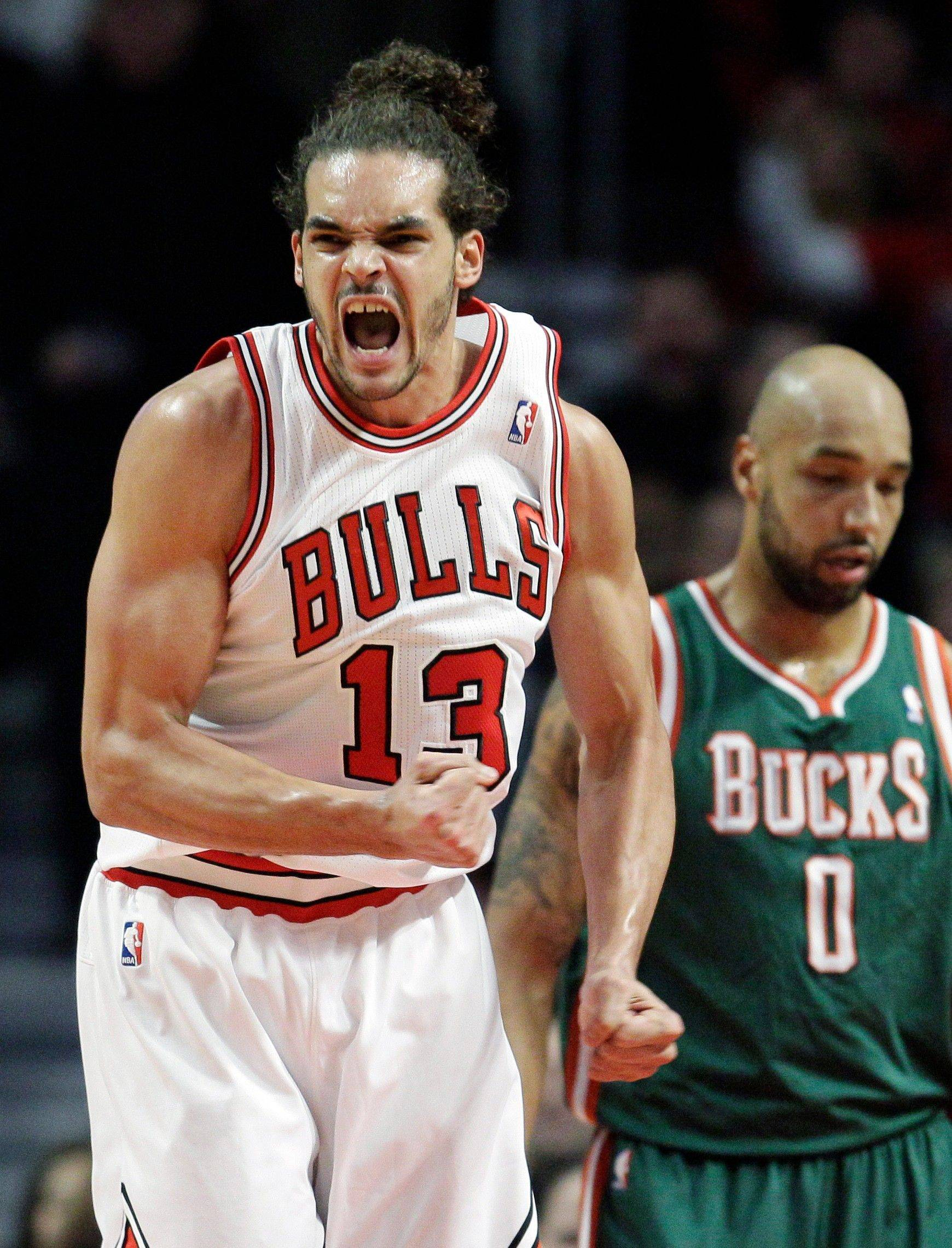 The Bulls' Joakim Noah has averaged more than 13 points and grabbed over a dozen rebounds in the last five games.