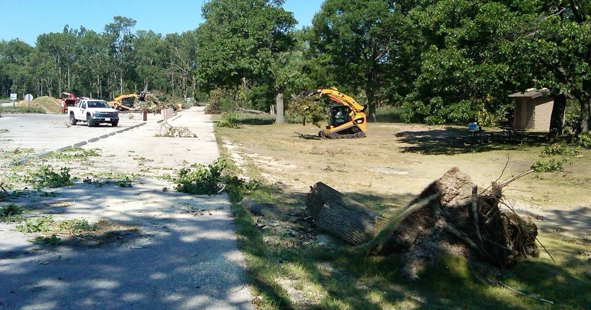 Camping At Illinois Beach State Park Could Resume April 1 As Storm Clean Up Continues