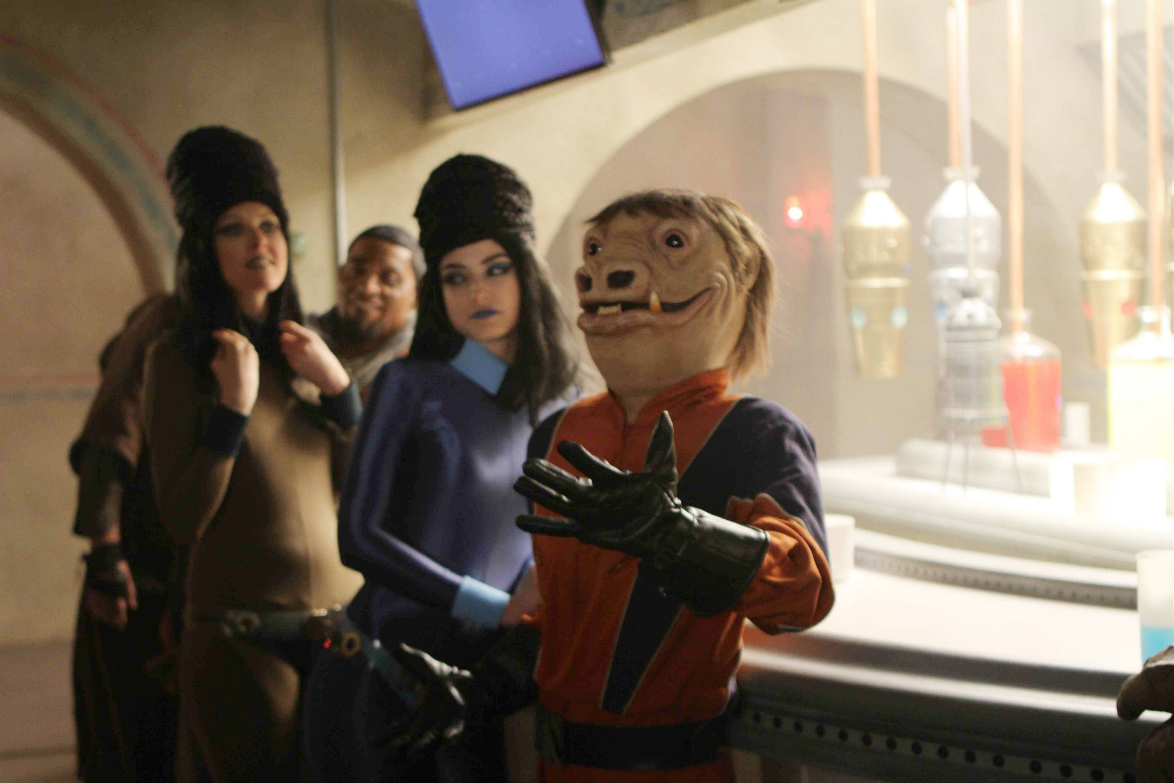"This advertisement provided by Volkswagen of America Inc. shows a creature and friends at the bar of the Cantina; it will air Sunday during Super Bowl XLVI. Volkswagen charmed millions of viewers last year with a ""Star Wars""-themed ad introducing its redesigned 2012 Passat sedan."