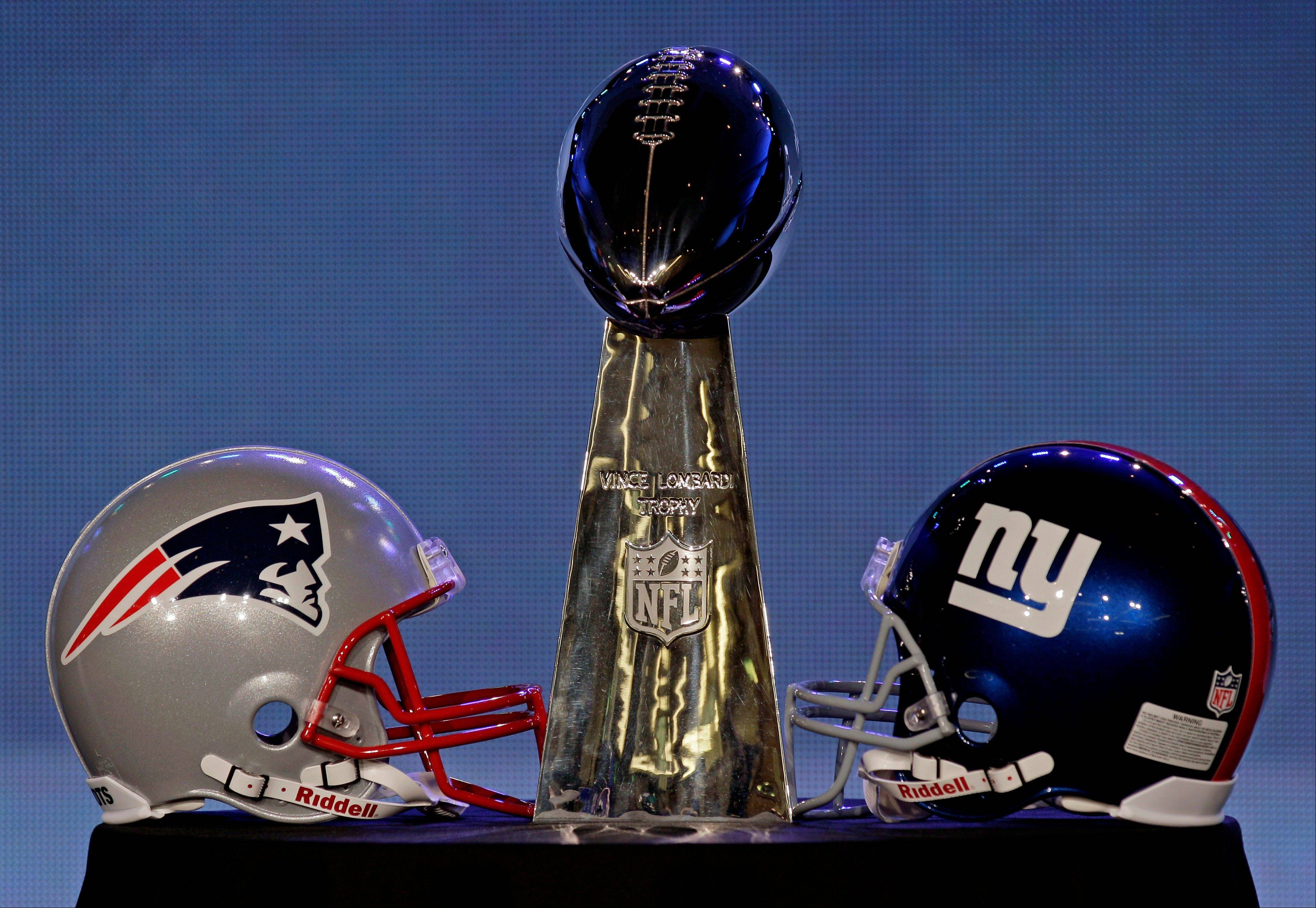 The New England Patriots and the New York Giants will battle for the Vince Lombardi Trophy in Indianapolis Sunday. Super Bowl XLVI kicks off about 5:30