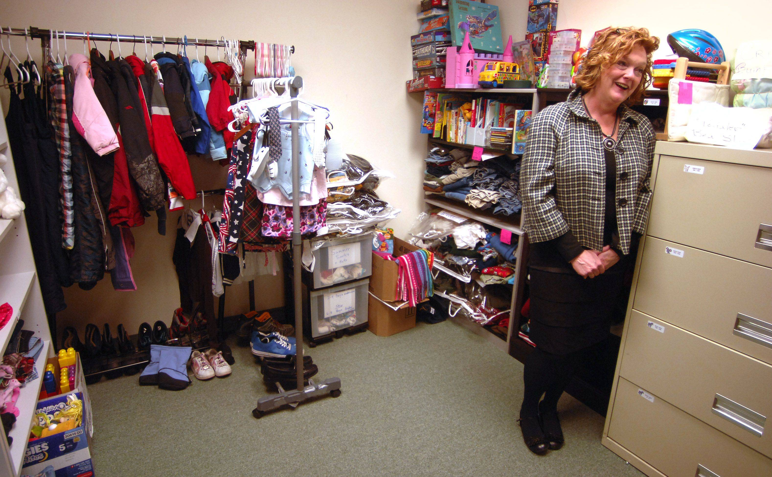 Donna Riemer, director of compassion ministry at Alpine Chapel, discusses the Lake Zurich church's Thrive ministry, which provides clothing and other services to those in need.