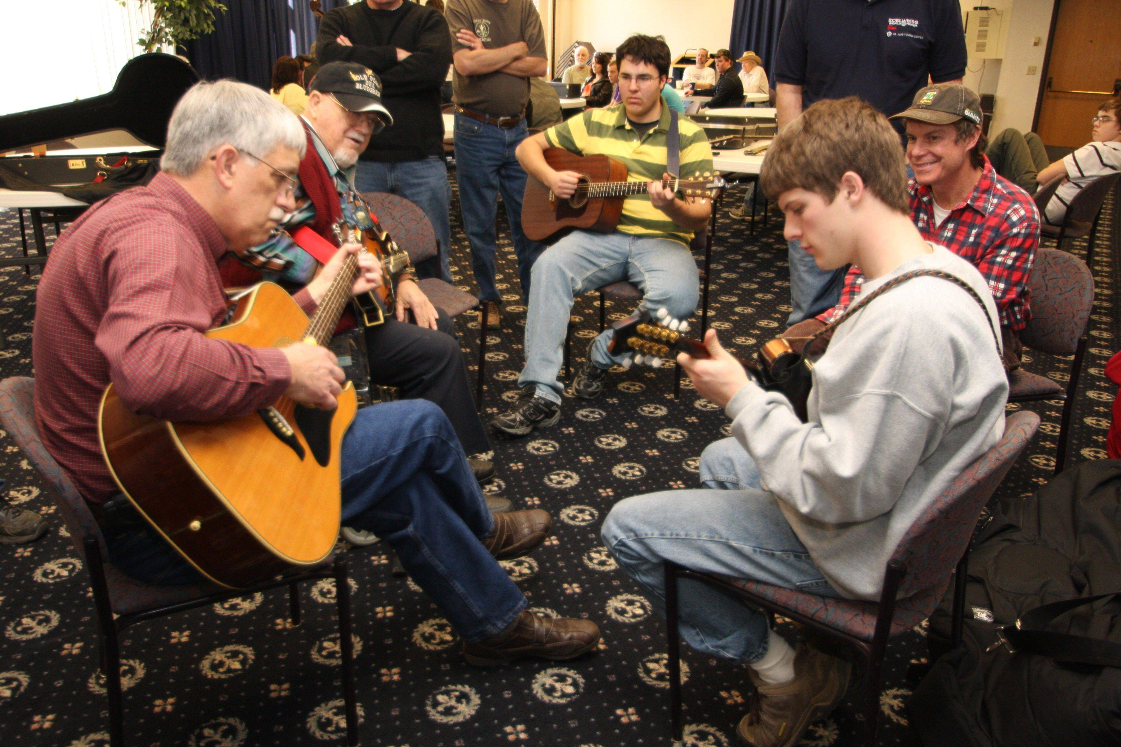 Musicians will be able to join in and play at the Old Post Bluegrass Jam in Vincennes, Ind., on Sunday, Feb. 12.