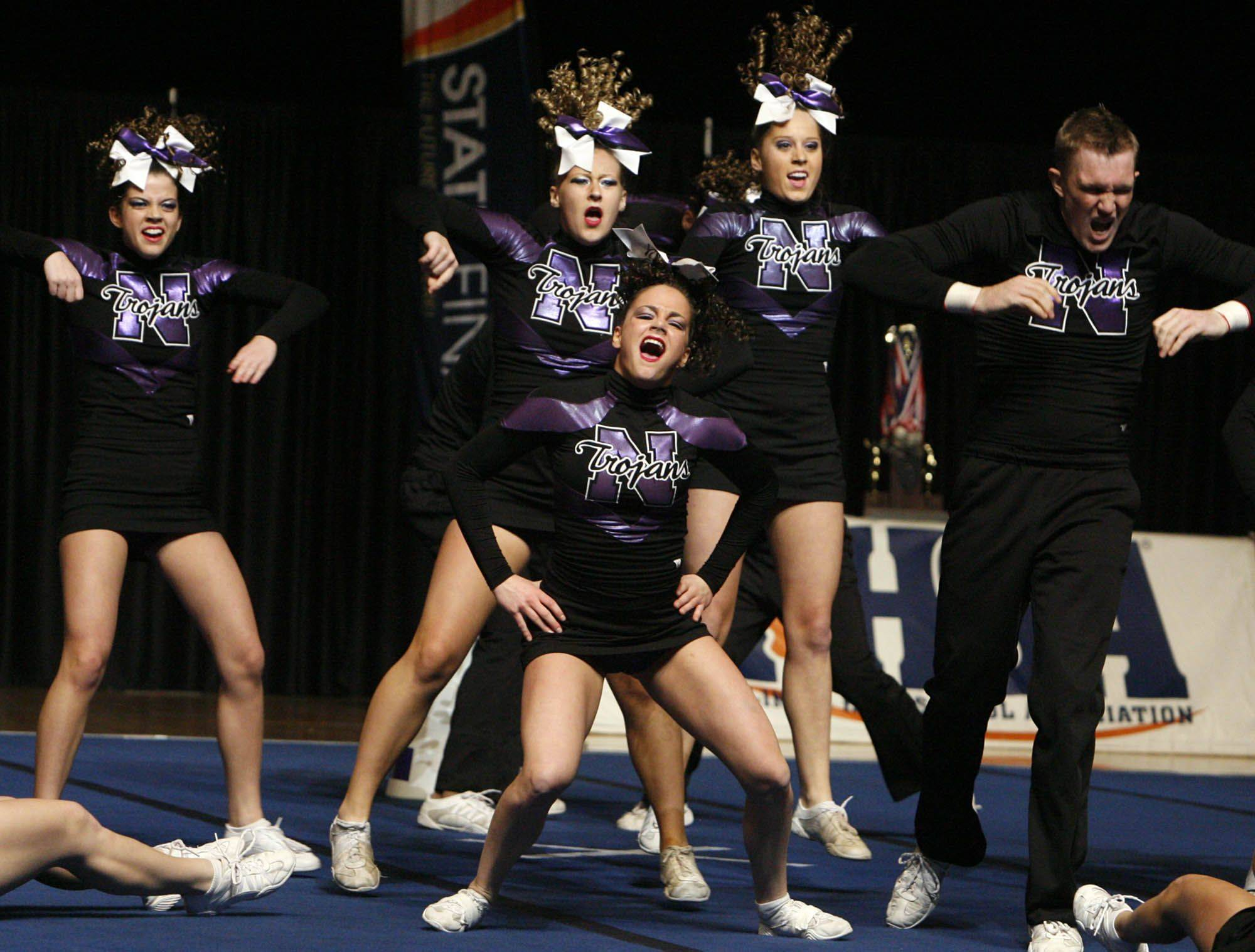 Downers Grove North performs at IHSA cheerleading state finals at U.S. Cellular Coliseum in Bloomington on Saturday, February 4th.