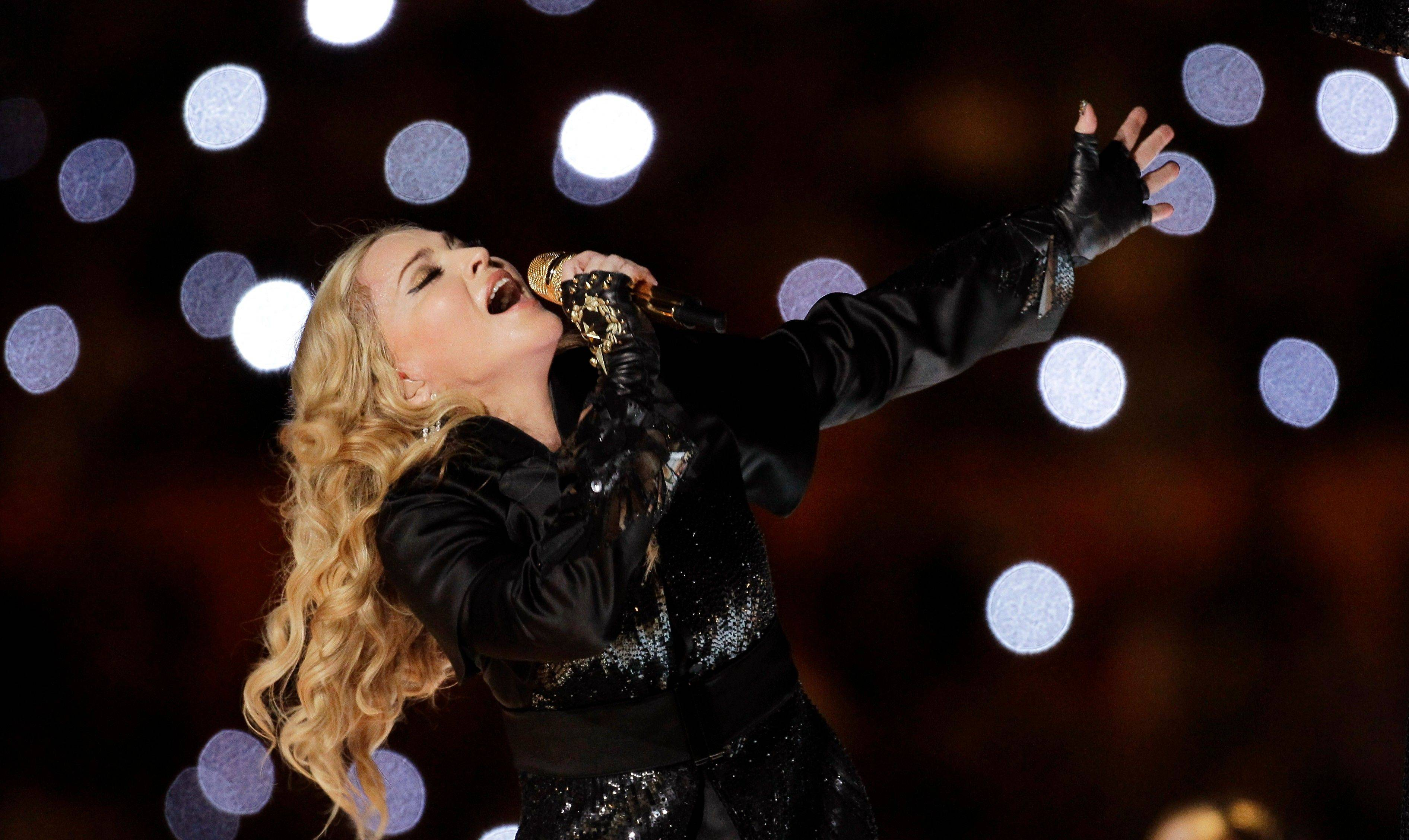 "Madonna provided the halftime entertainment, featuring some of her newers songs and including some classics like ""Vogue"" and ""Like a Prayer."""