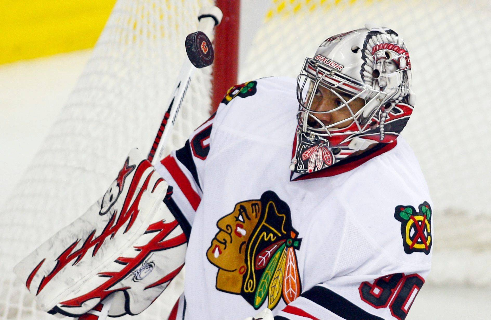 Ray Emery will be in the net tonight for the Blackhawks when they take on the Avalanche at the Pepsi Center.