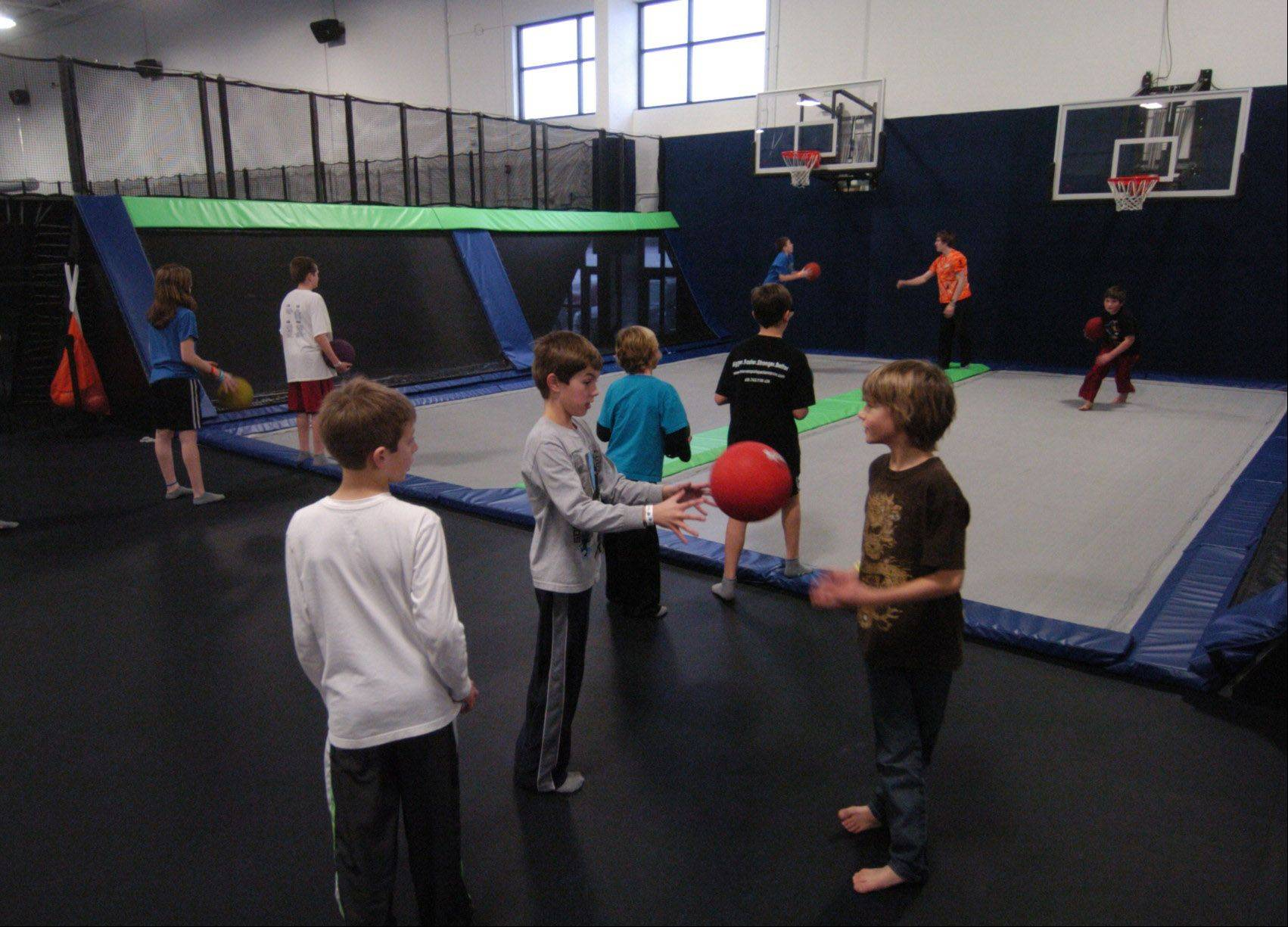 Bob Chwedyk/bchwedyk@dailyherald.comTrampoline basketball at Epic Air Trampoline Park.