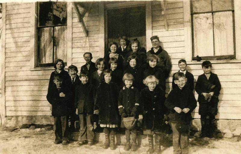 Students of the Ford School in Lake in the Hills in 1925. The school dates back to 1886.