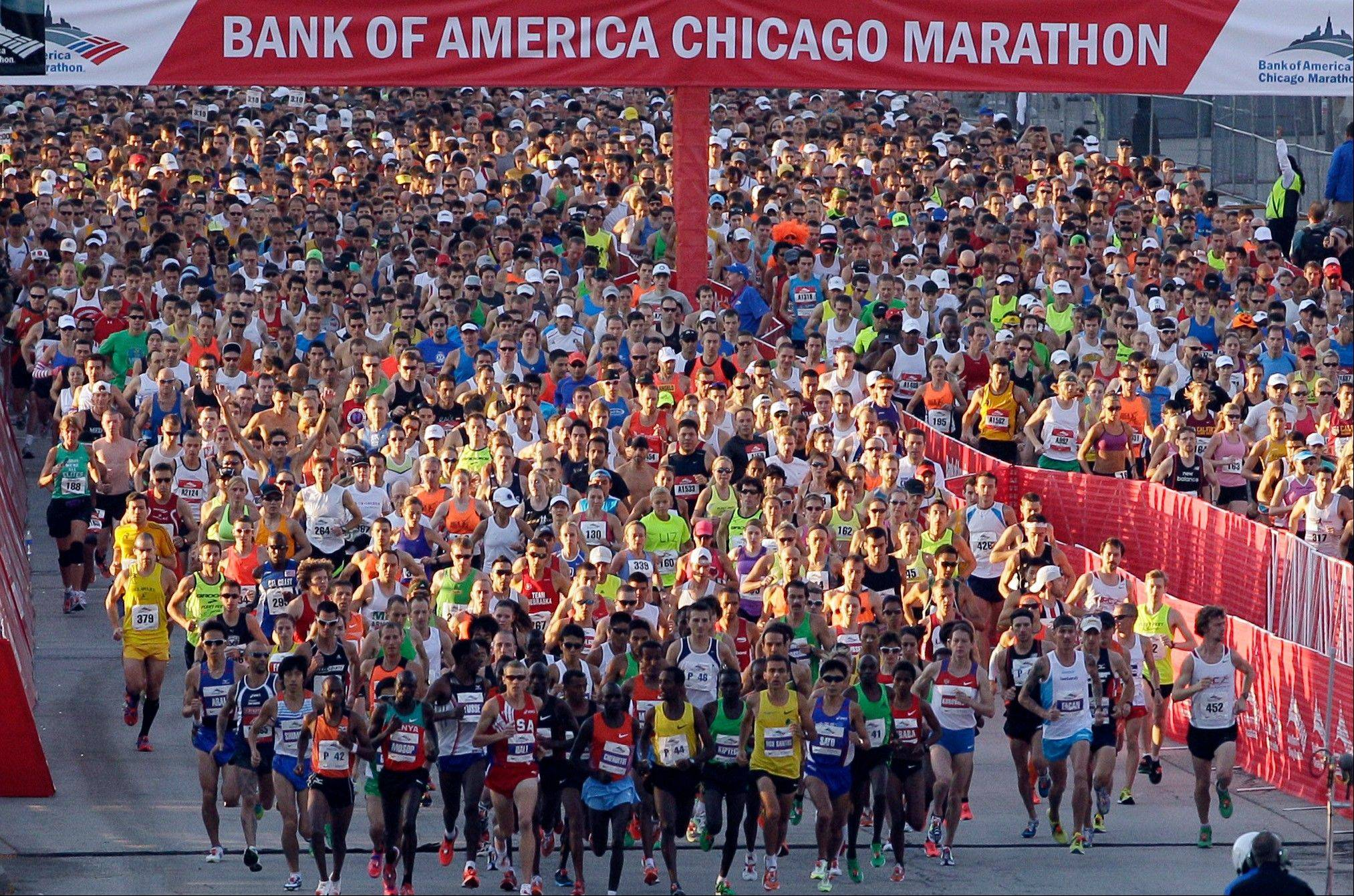 The 35th Chicago Marathon will get under way Oct. 7, and registration for the field of 45,000 runners closed in record time Monday.