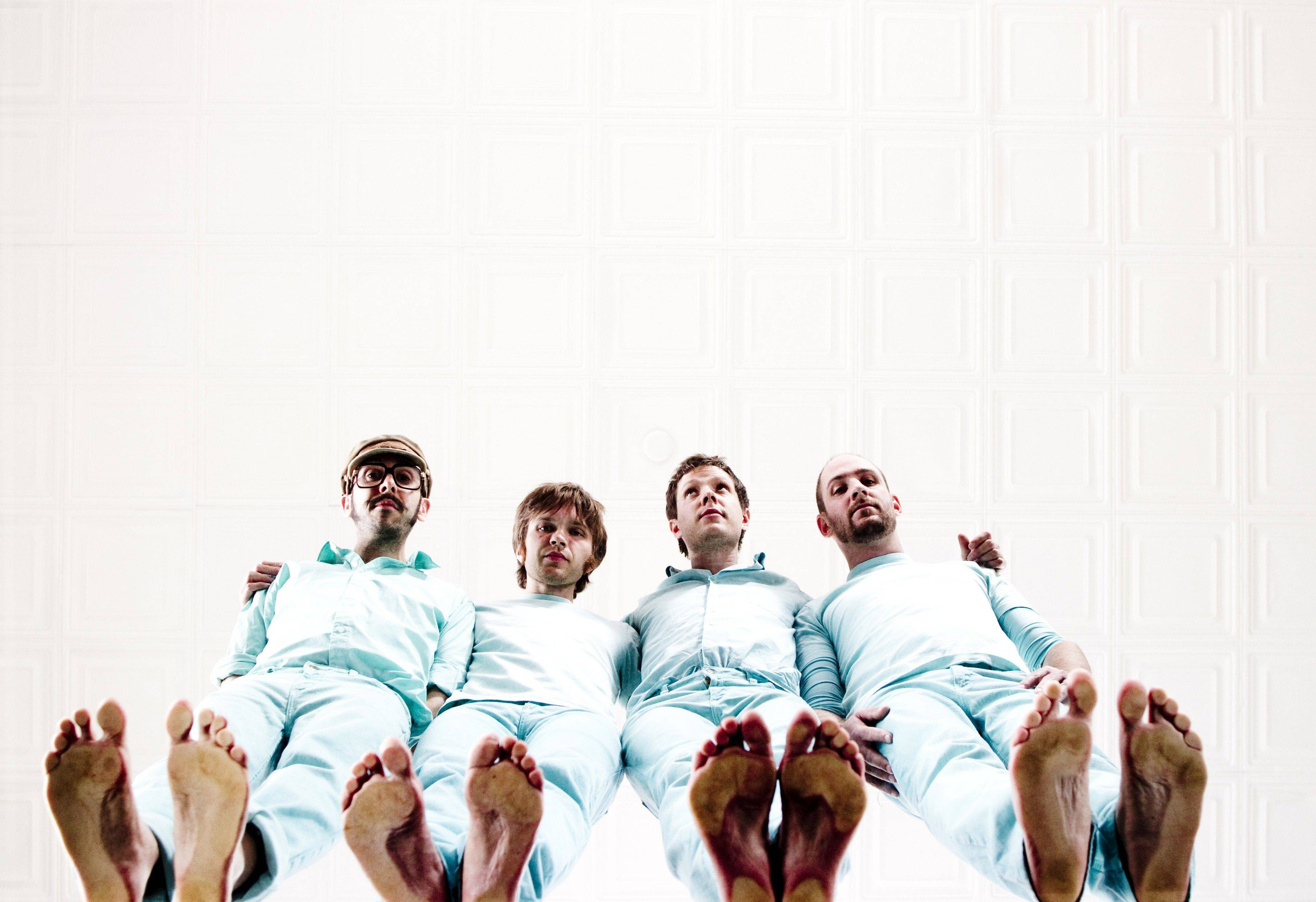 "Members of OK GO, including Elmhurst native Dan Konopka, are pictured in their Grammy-nominated video, ""All is Not Lost."""