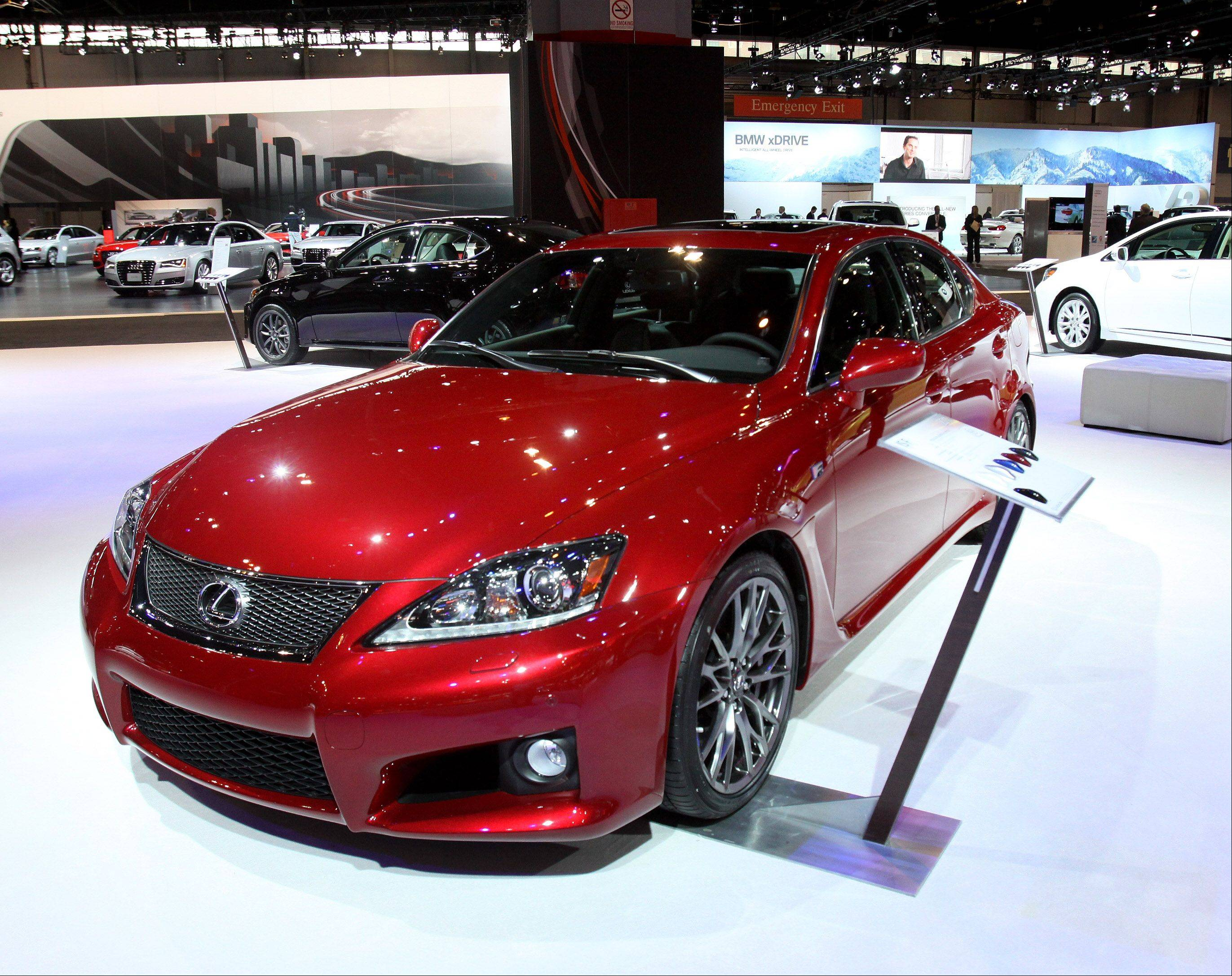 A Lexus ISF graced the runway at the 2011 Chicago Auto Show at McCormick Place in Chicago. The 2012 edition runs from Feb. 10-19.