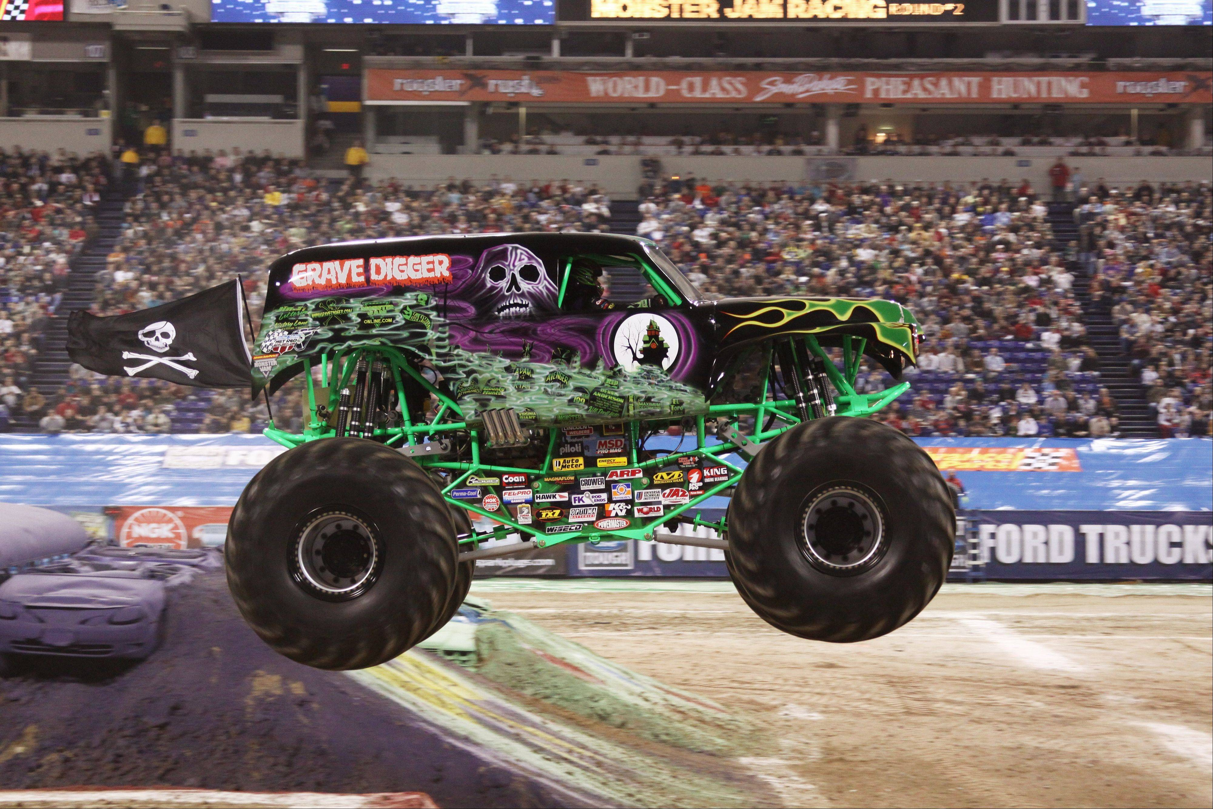 "The ""Grave Digger"" rolls into Allstate Arena as part of The Advance Auto Parts Monster Jam."