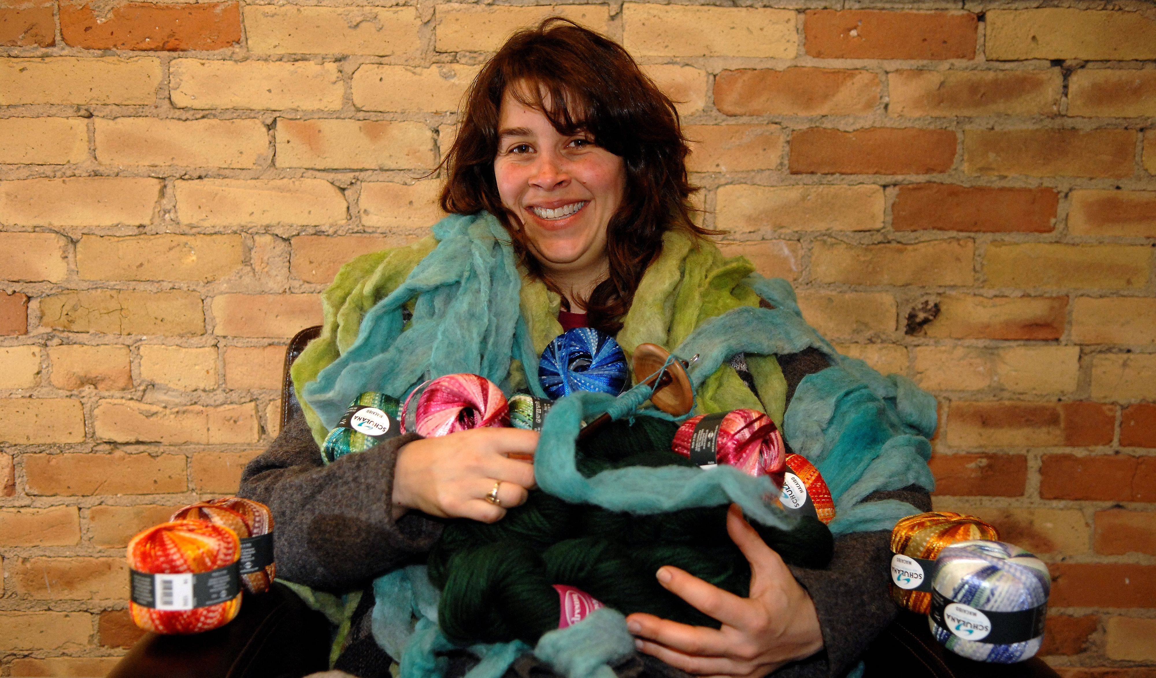 Betsy Kuhn has been doing fiber art for a long time, more recently getting into spinning and dyeing her own yarn. She and her husband will open Elgin Knit Works at 17 N. Grove Ave. on Saturday, Feb. 11, with a grand opening planned for later in March.