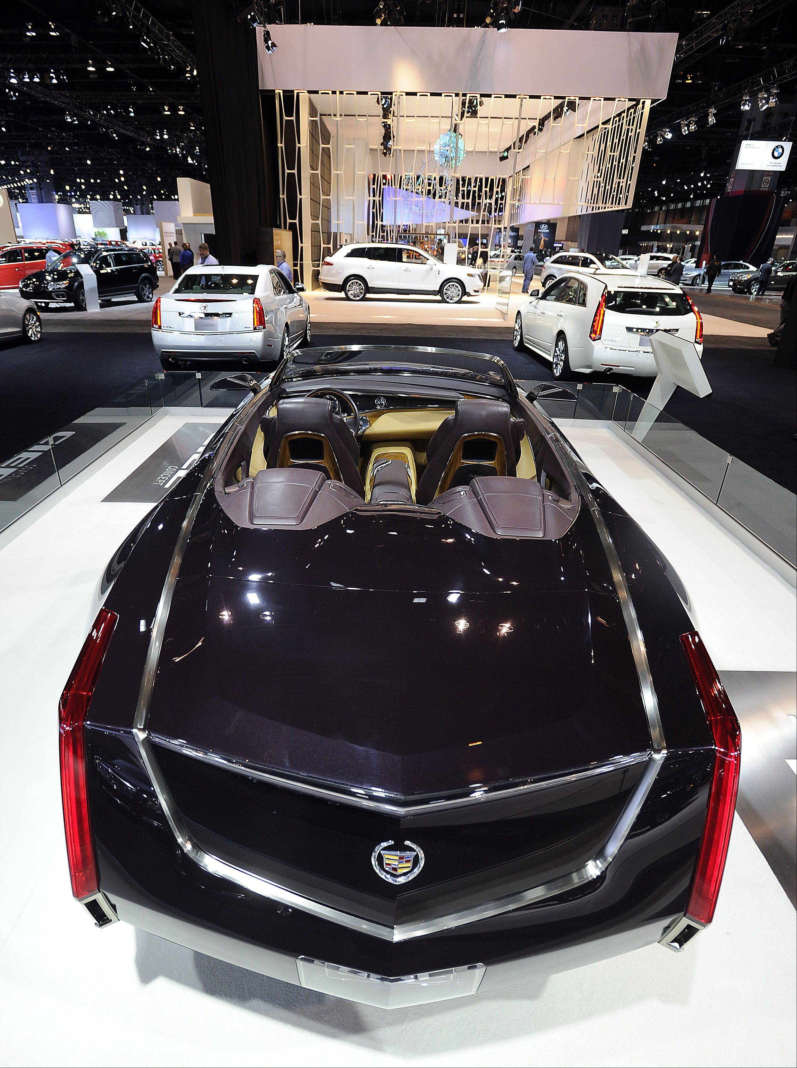 The Cadillac Ciel Concept car is on display.