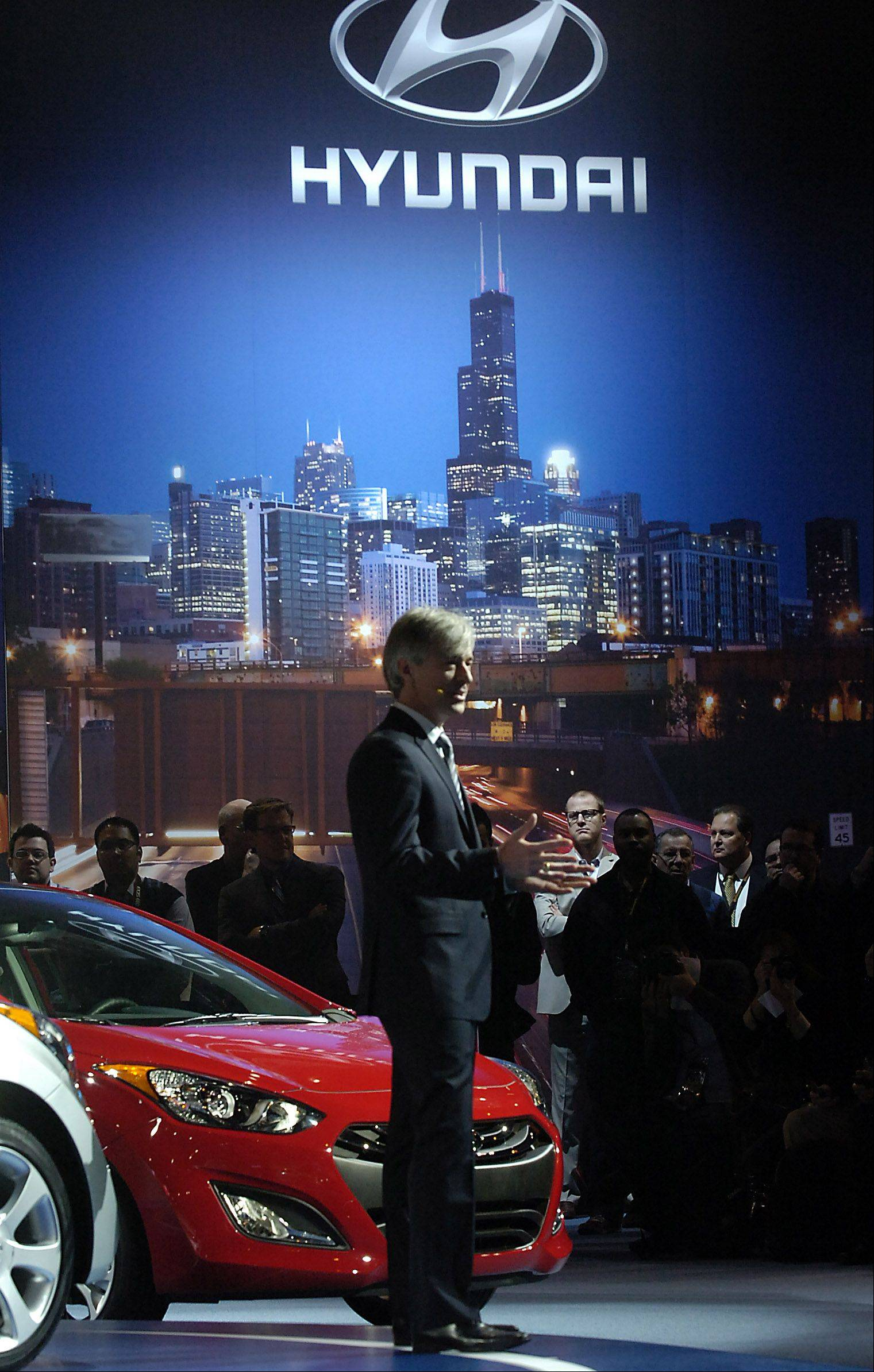 Scenes from the Chicago Auto Show's media day on Wednesday in Chicago.