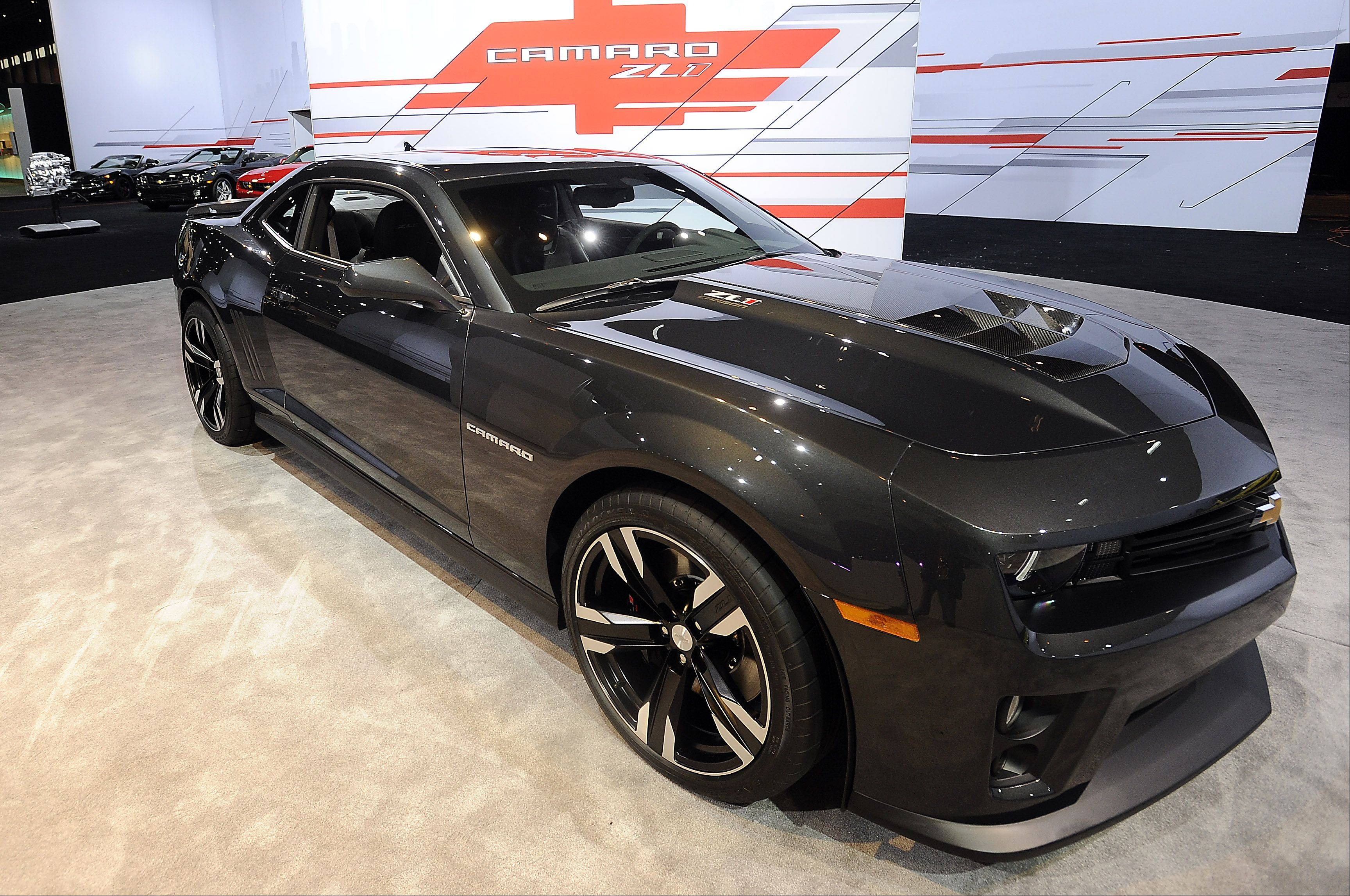 The latest edition of the Chevy Camaro is on display.