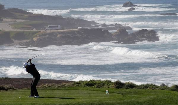 Tiger Woods From The Fourth Tee At Spygl Hill Golf Course Thursday During First