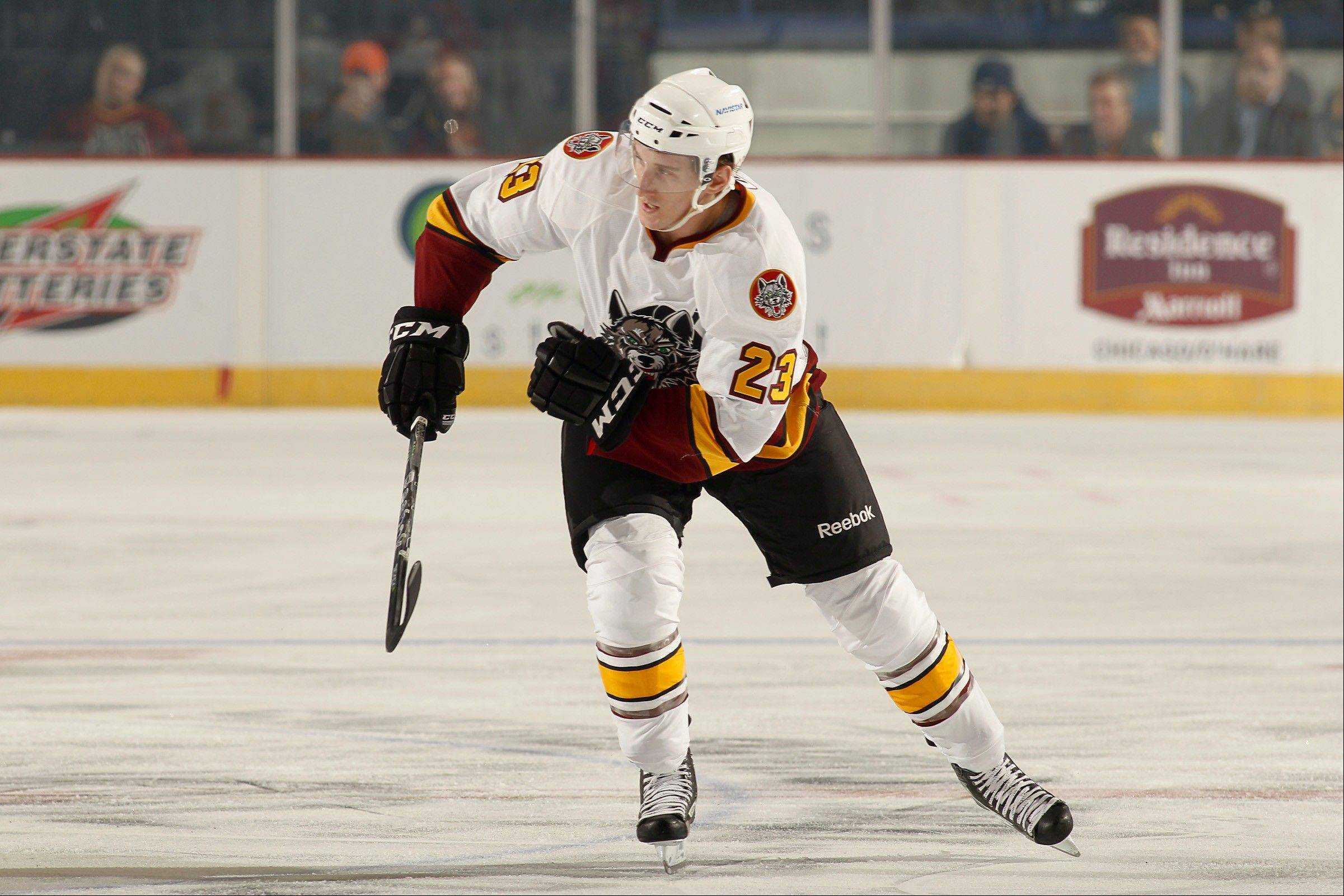 Having grown up in Lombard and Elburn, left winger Bill Sweatt has found a home with the Chicago Wolves as he pursues his dream to play in the NHL.