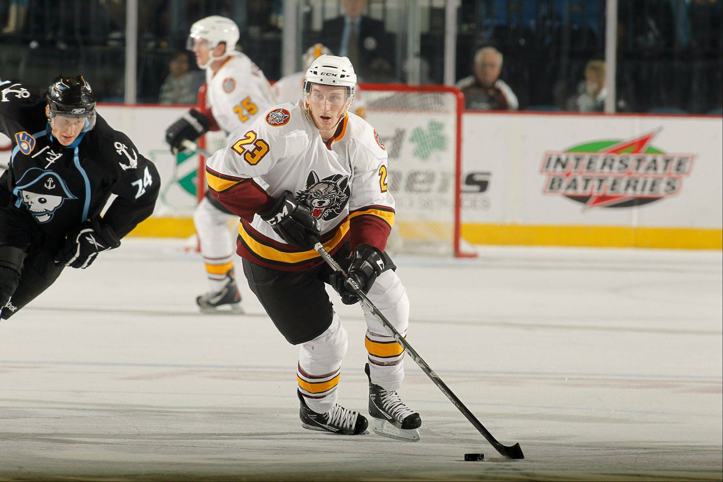 His speed on the ice is one of Bill Sweatt's biggest weapons for the Chicago Wolves.