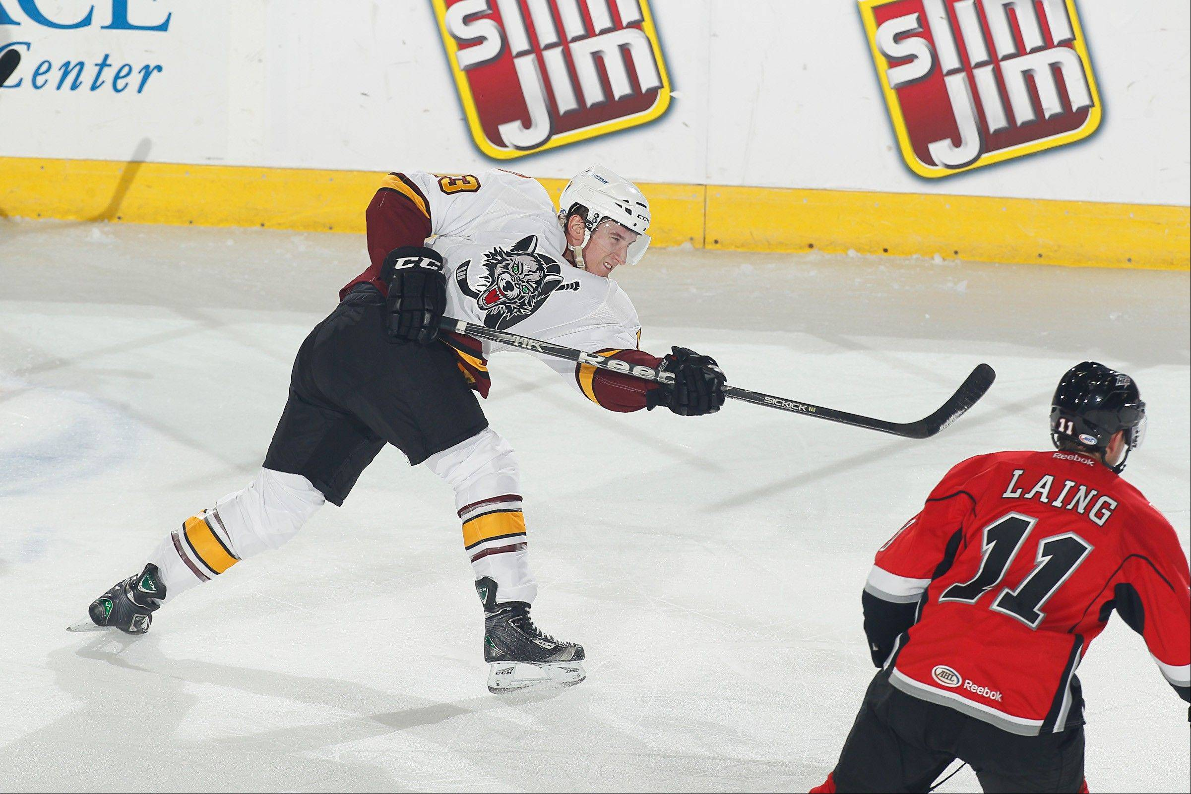 With 10 goals and 11 assists this season, Bill Sweatt is becoming an offensive threat for the Chicago Wolves, and his speed and quickness on the ice likely will get him a shot at the NHL level.