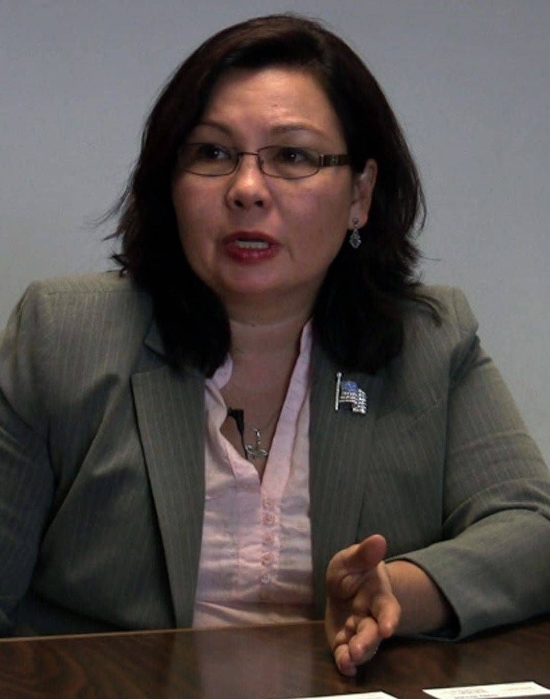 Eighth District Democratic primary candidate Tammy Duckworth speaks to the Daily Herald Editorial Board.