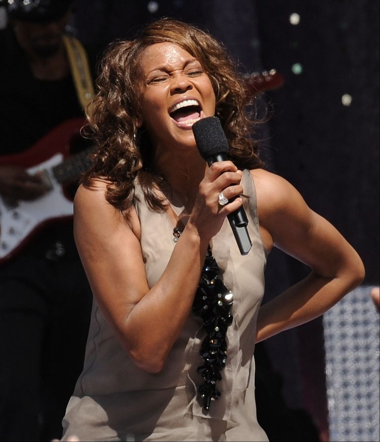 Whitney Houston performs on 'Good Morning America' in New York's Central Park in 2009.