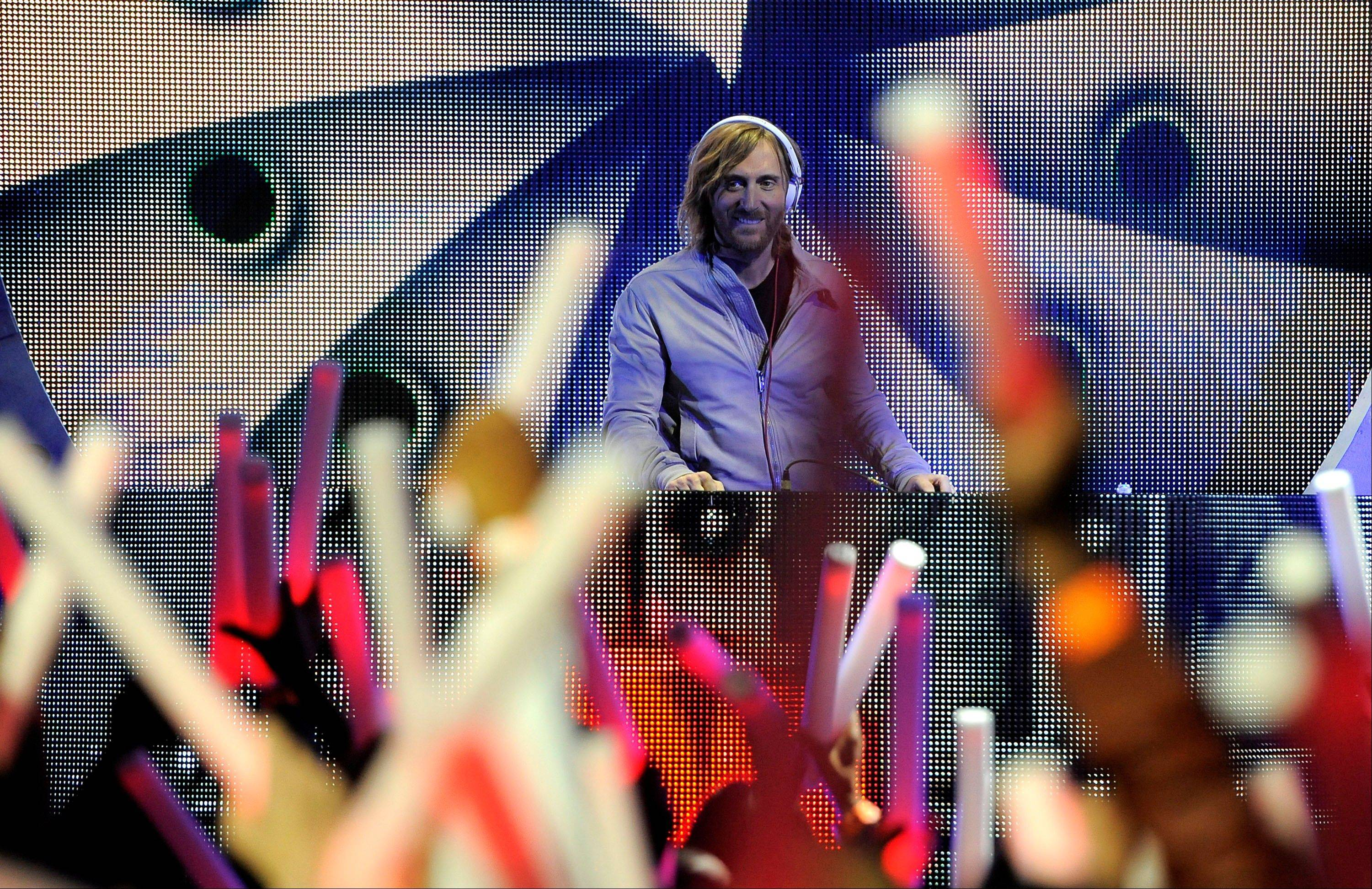 David Guetta performs Sunday at the 54th annual Grammy Awards in Los Angeles.