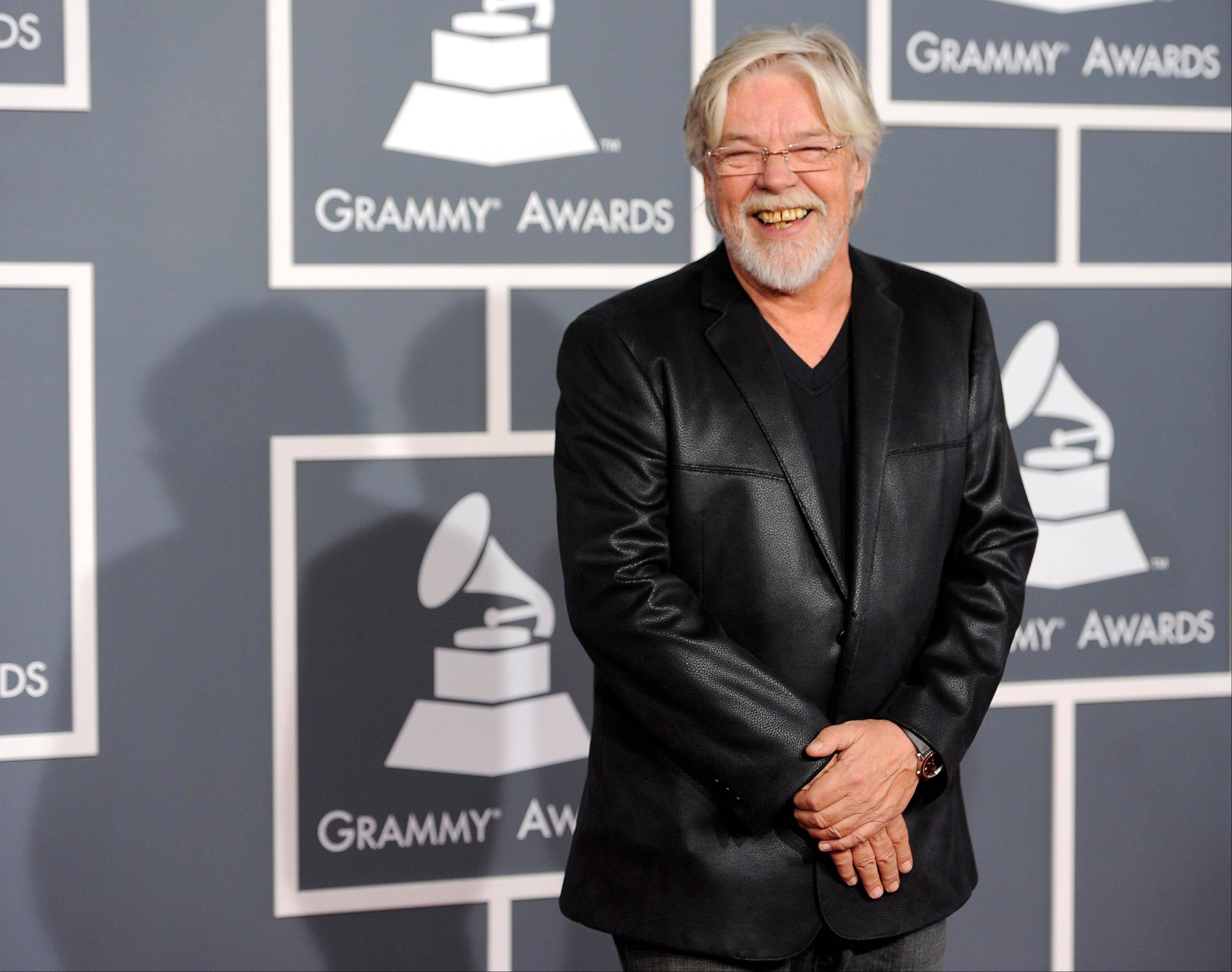 Bob Seger arrives Sunday at the 54th annual Grammy Awards in Los Angeles.