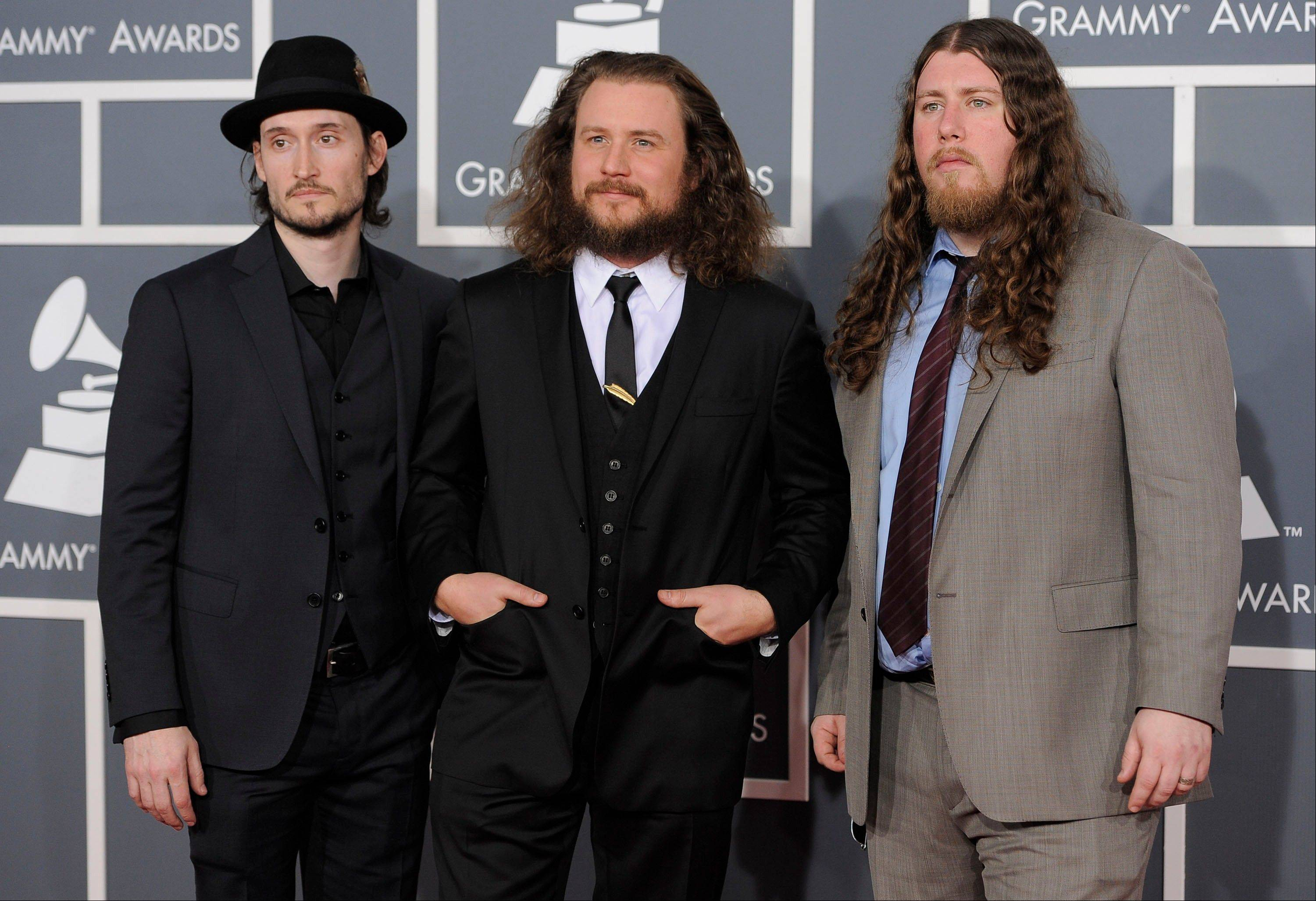 The band My Morning Jacket arrives Sunday at the 54th annual Grammy Awards in Los Angeles.