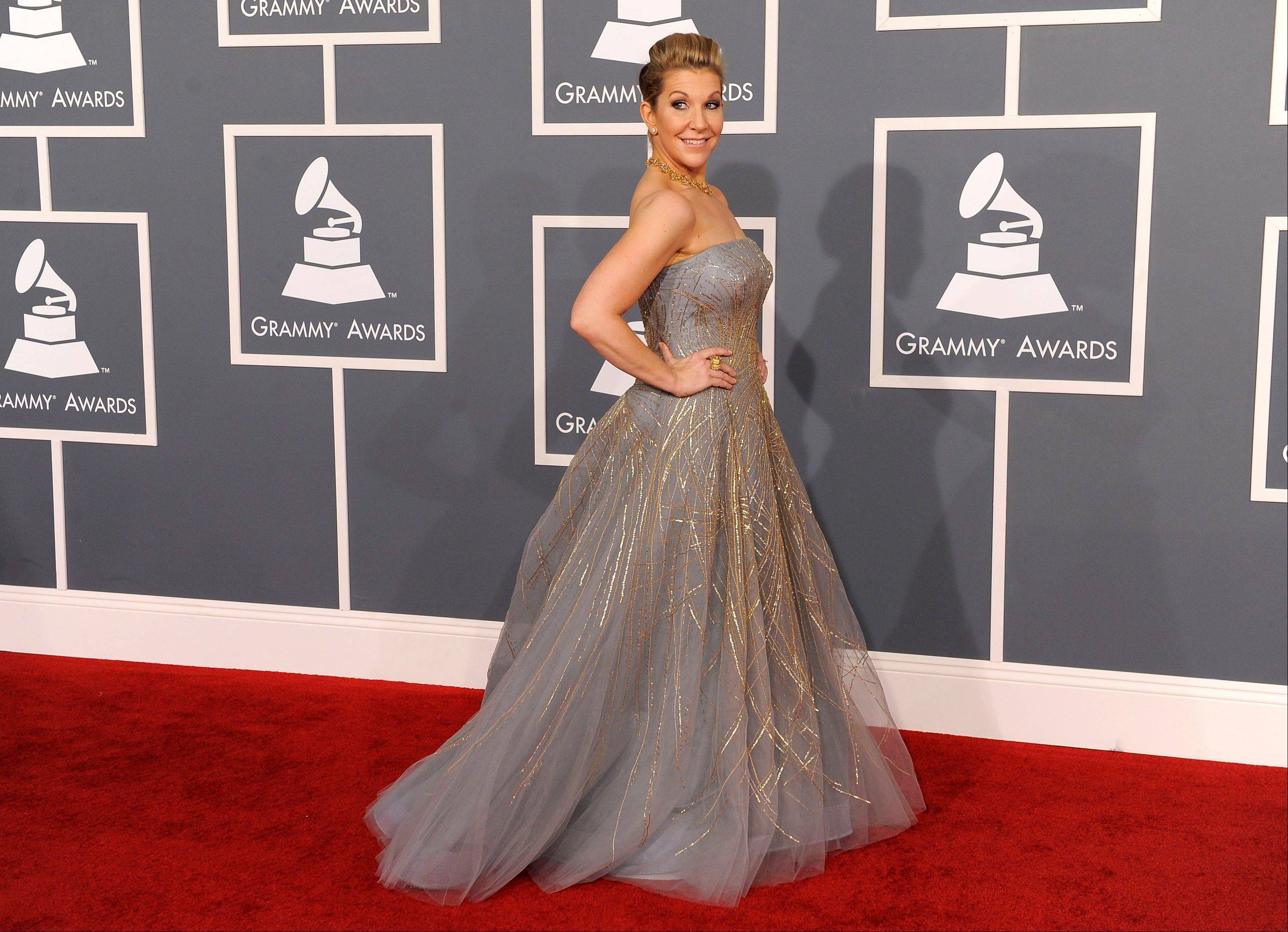 Joyce DiDonato arrives Sunday at the 54th annual Grammy Awards in Los Angeles.