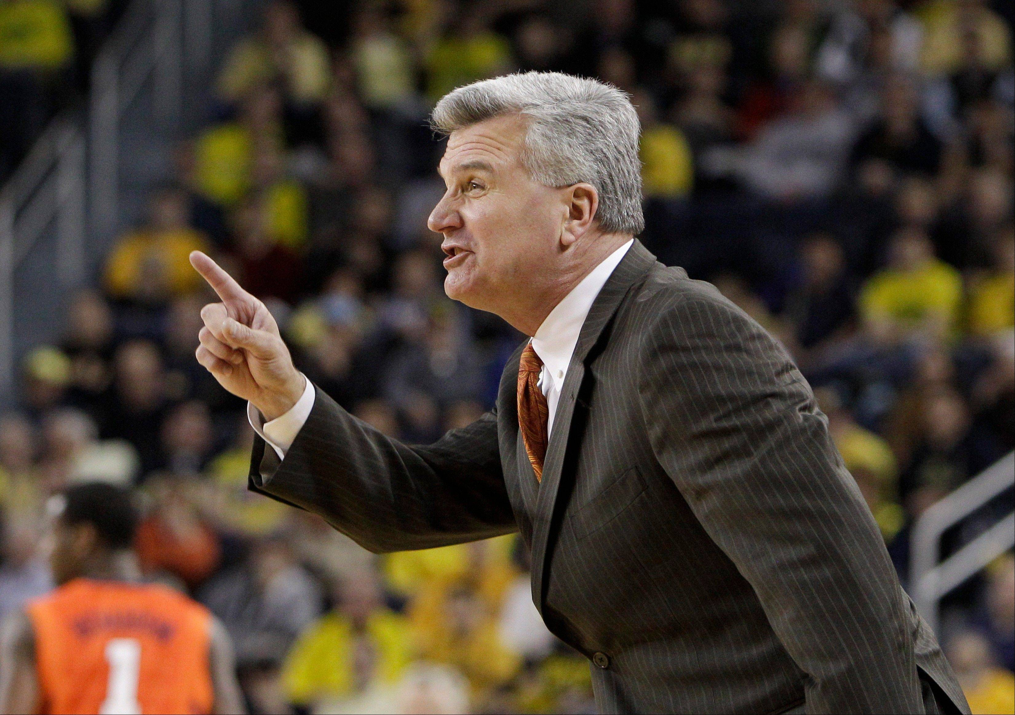 Illinois coach Bruce Weber might just be in danger of squandering what not long ago looked like a certain NCAA Tournament bid.