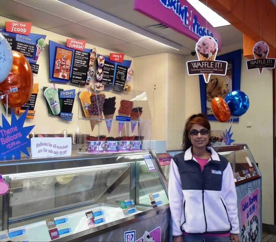 Anita Shah is the franchise owner of Dunkin' Donuts and Baskin-Robbins in Schaumburg, Bloomingdale and Des Plaines.