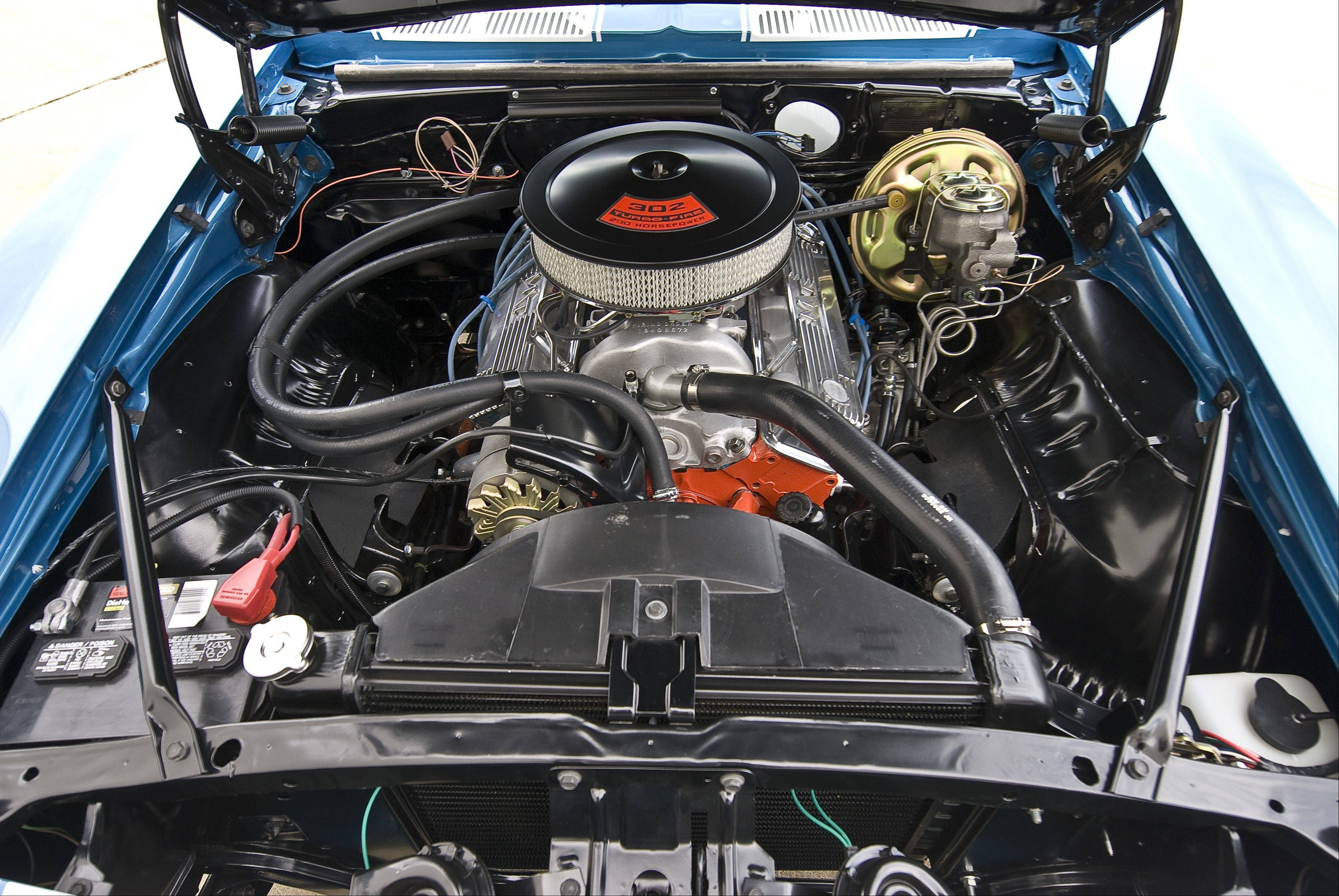Kochanski rebuilt a 327-cubic-inch V-8 to power his muscle car.