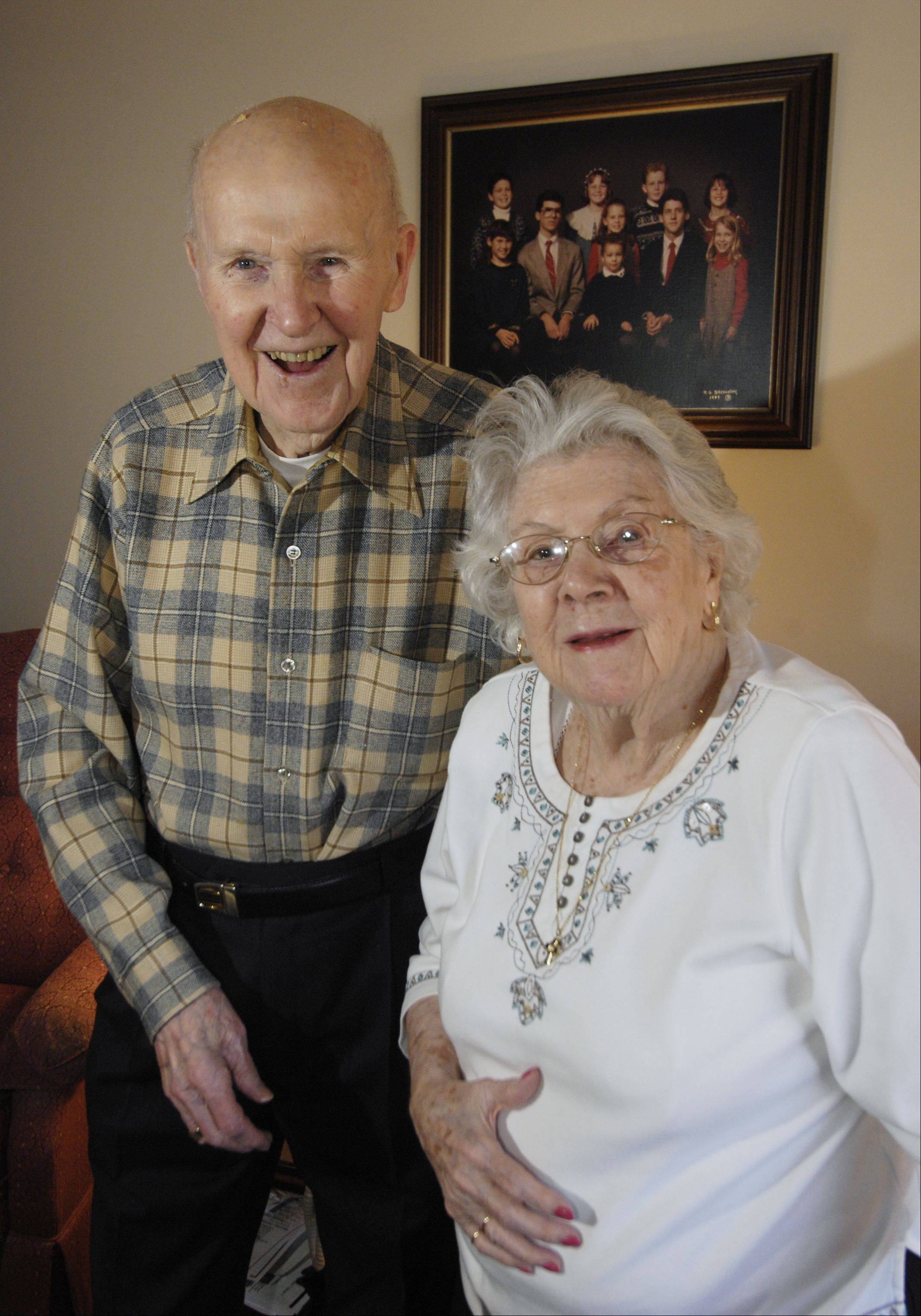 "Villa St. Benedict Center residents Dick and Bernice McKillip have been married for 70 years ""and we're not done yet,"" Dick says."