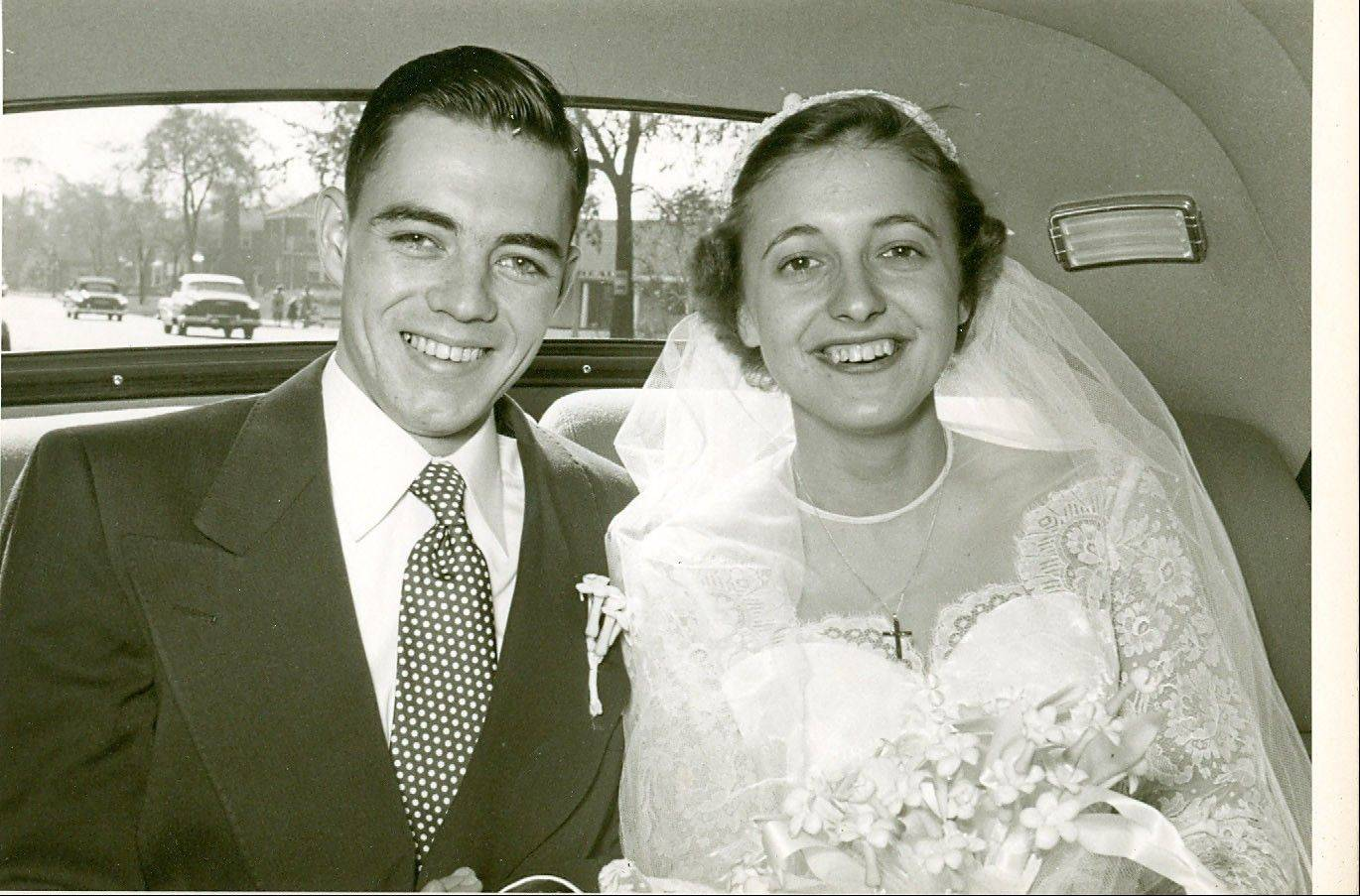 Paul and Audry Girard planned their wedding through letters while Paul served in the Navy.