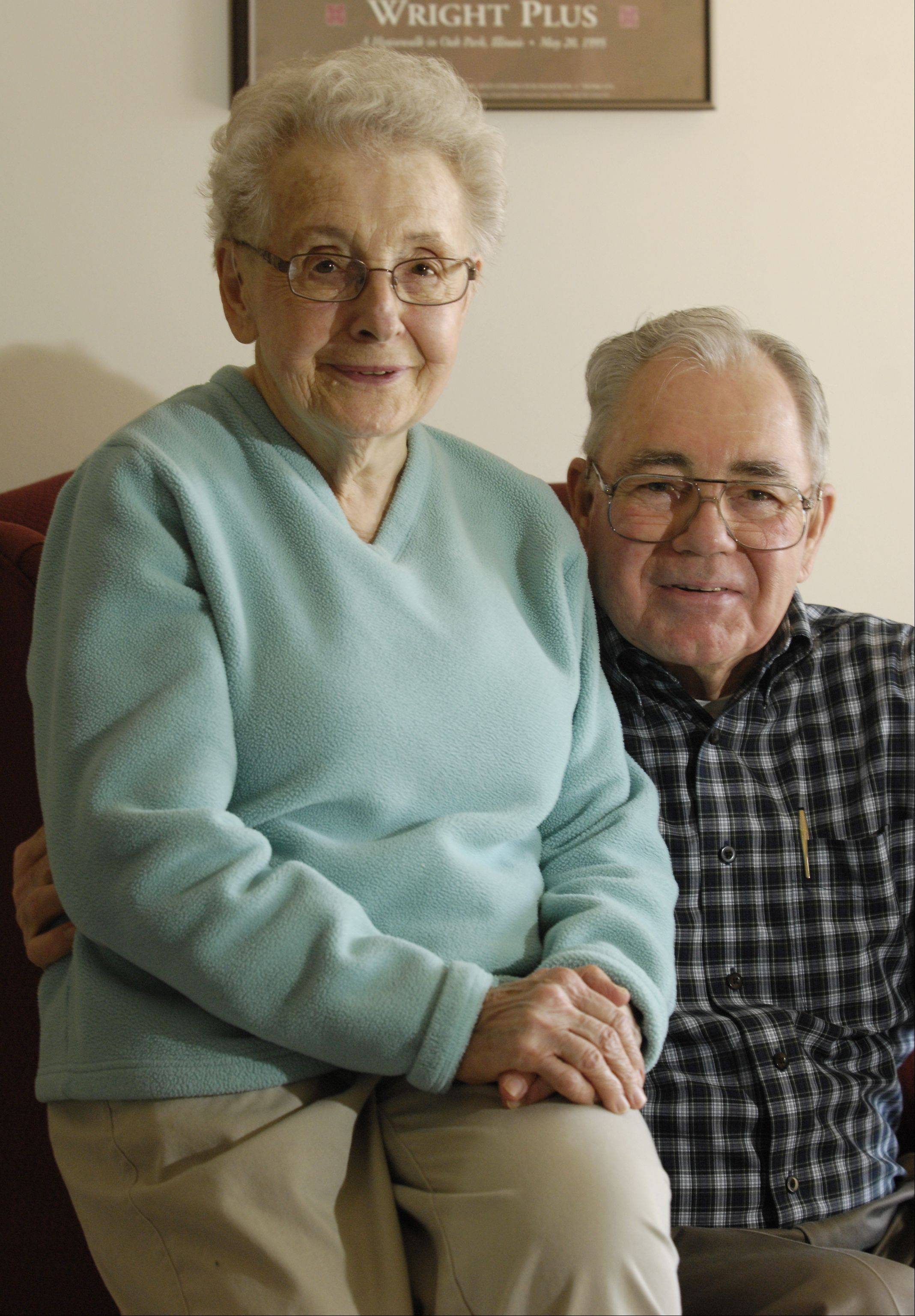 Villa St. Benedict Center residents Audry and Paul Girard will be married 60 years this year.