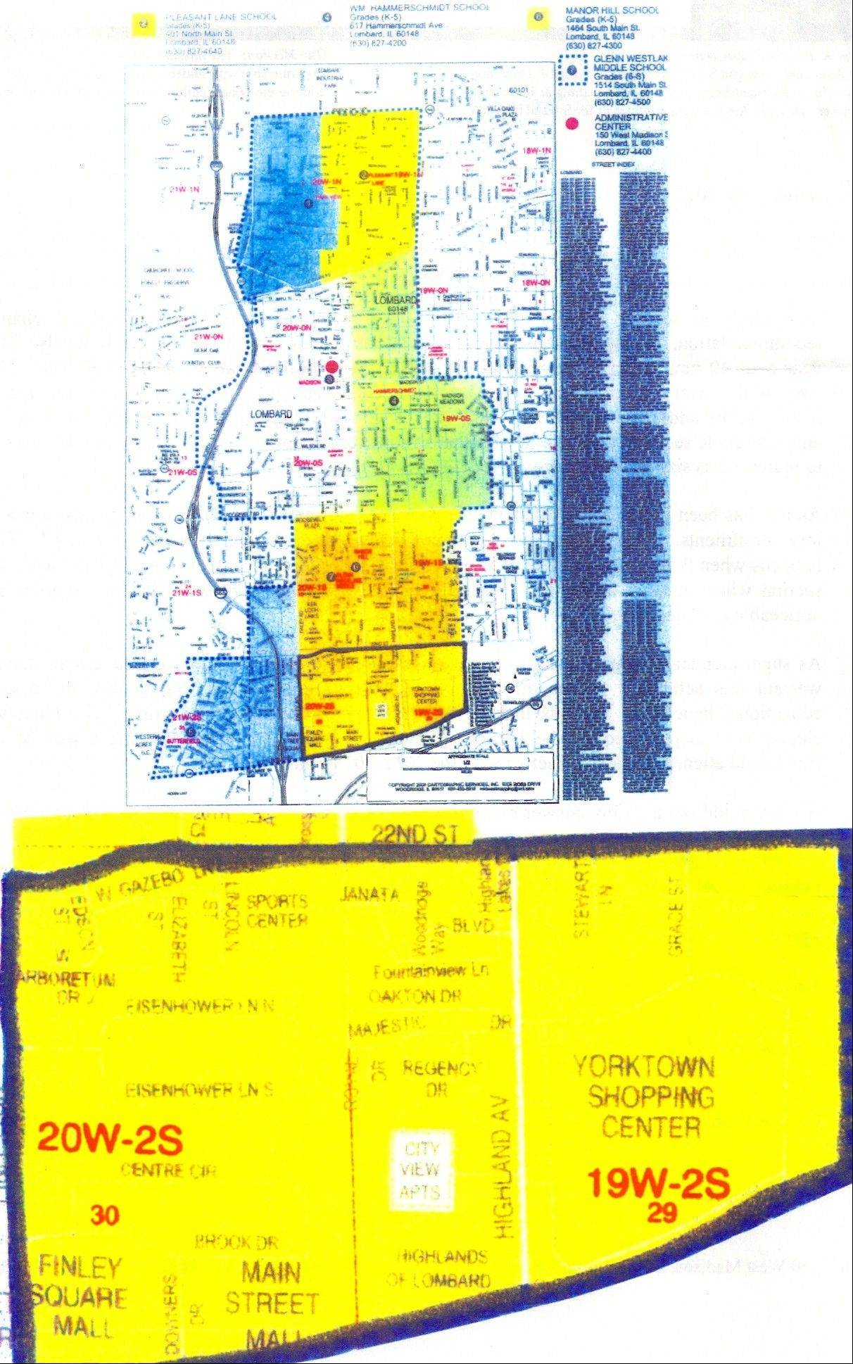 A proposed boundary change in Lombard Elementary District 44 would move students living between 22nd Street on the north, Butterfield Road on the south, Finley Road on the west and the district's eastern boundary to Butterfield Elementary School instead of Manor Hill Elementary School. The school board will begin discussing the proposal at 8 p.m. Tuesday, Feb. 14, at Pleasant Lake Elementary School, 401 N. Main St., Lombard.