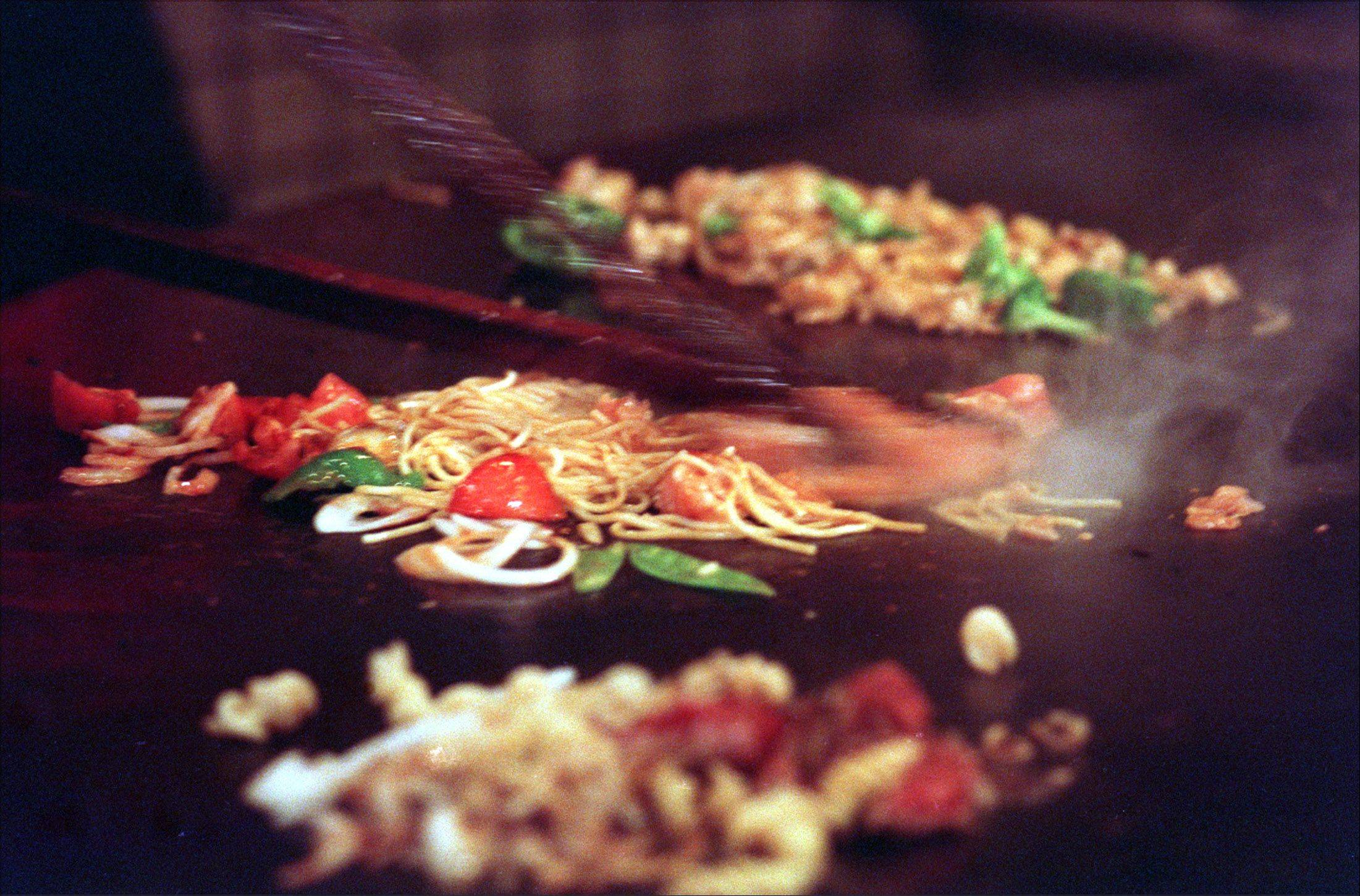 Mongolian-style grilling allows for several meals to be cooked at the same time.