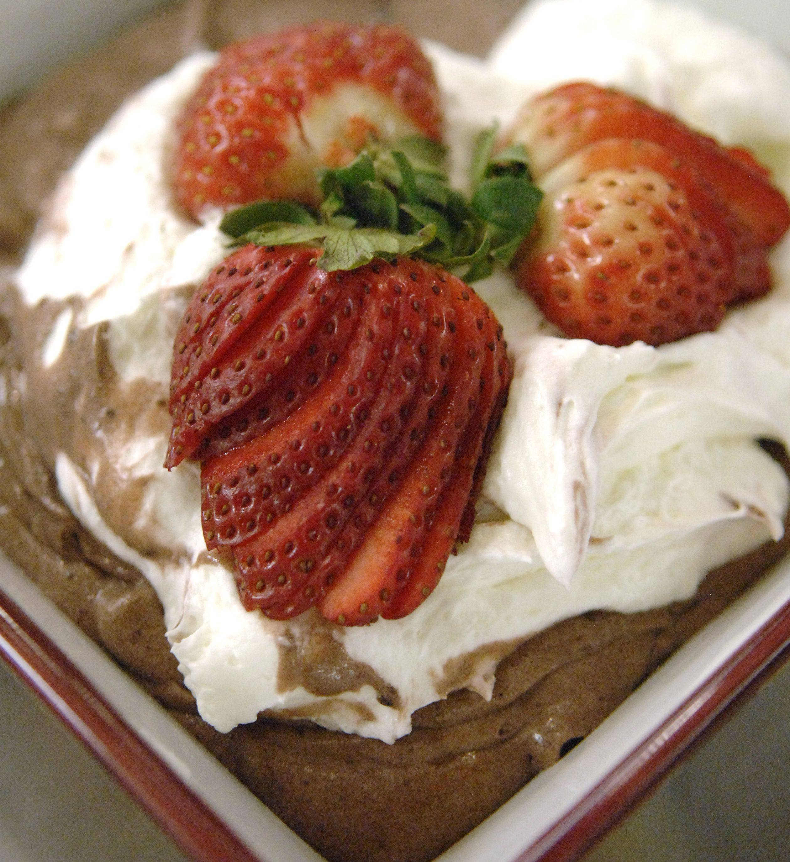This chocolate mousse by chef Jen Bucko Lamplough of Batavia is low in fat, sugar and calories.