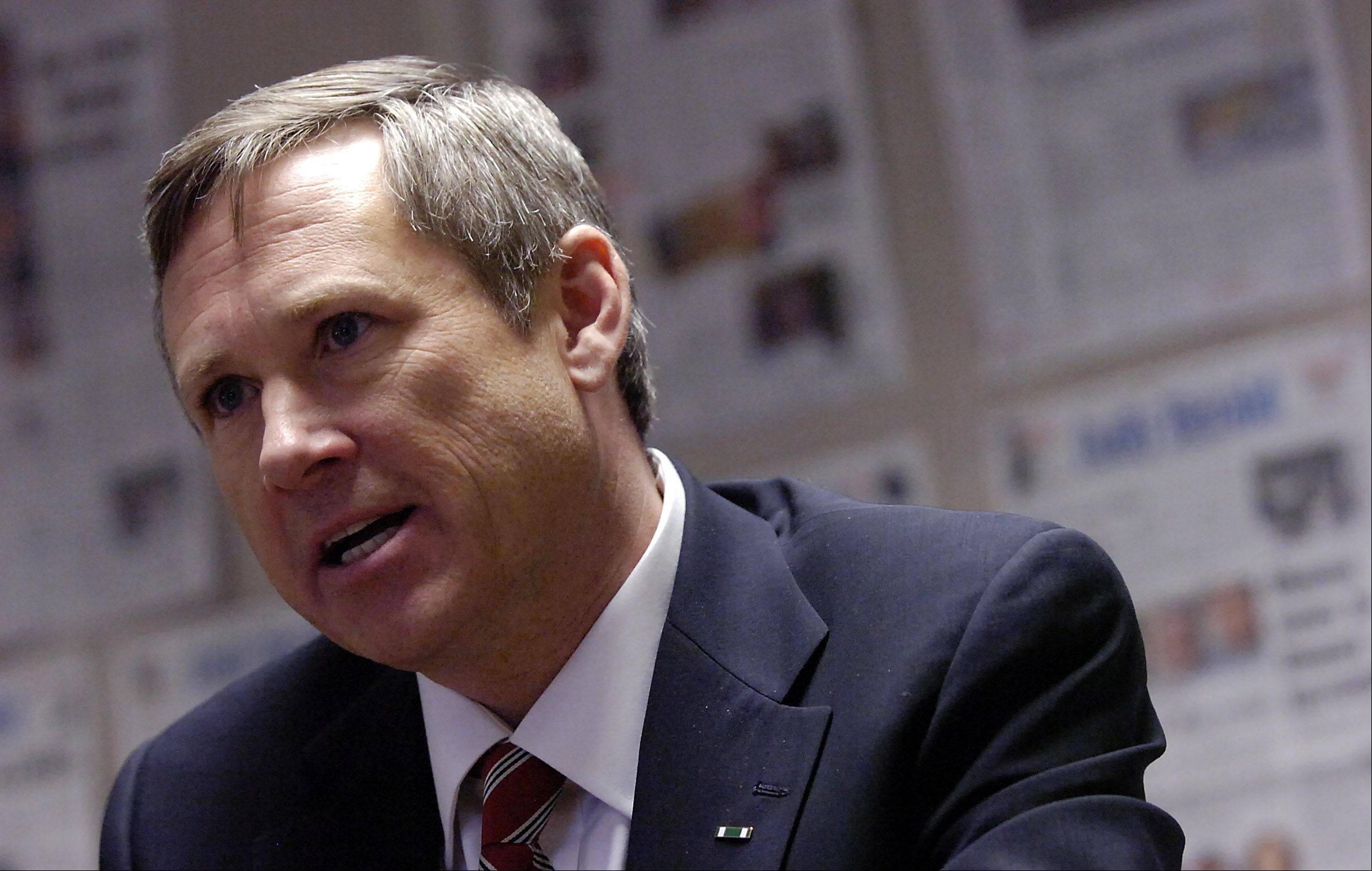 Sen. Mark Kirk is recovering from a stroke he suffered in late January.
