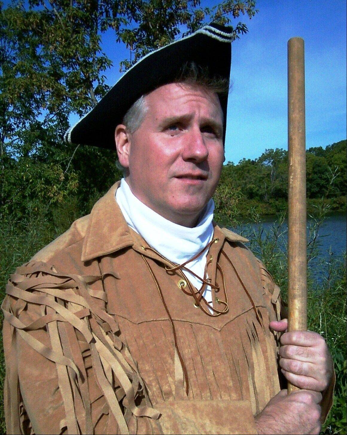 Historical impersonator Terry Lynch will appear as Meriwether Lewis at 3 p.m. Sunday at the Maple Street Chapel in Lombard to share stories about the Lewis and Clark expedition during the first of three variety series events sponsored by the Maple Street Chapel Preservation Society.