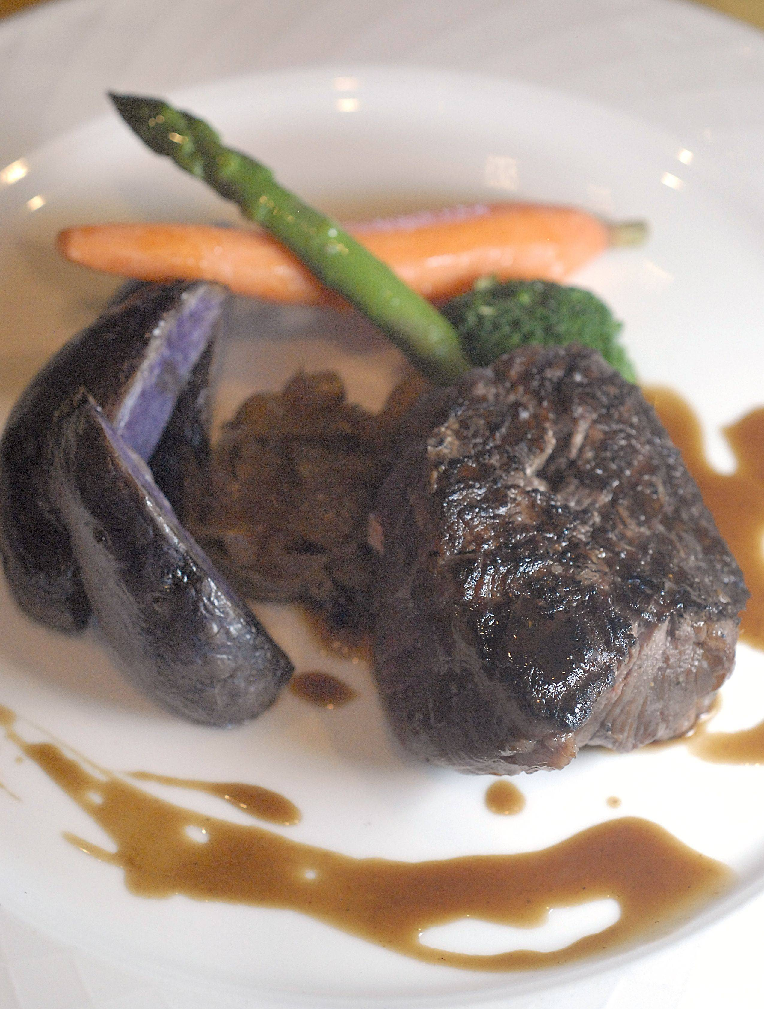 Beef tenderloin served with sweet onion and cognac sauce is on the tasting menu at Atwater's inside the Herrington Inn in Geneva during Restaurant Week.
