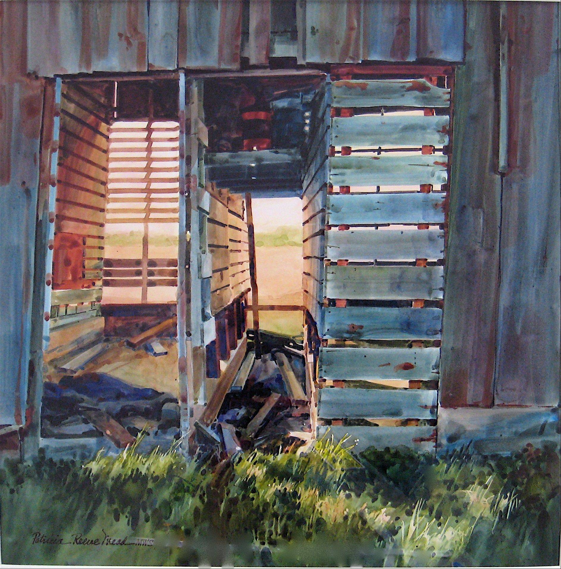 """Shady Side"" by Patricia Meade won first place in the Lake County Heritage Farm Foundation's 2010 art competition."