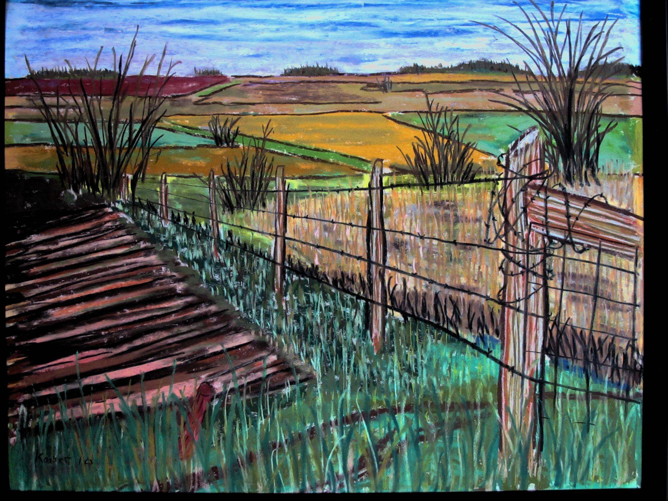 """Starzec Farm, Rte. 83,"" by Roger Kaiser, won the Lake County Prize in the 2010 art competition."