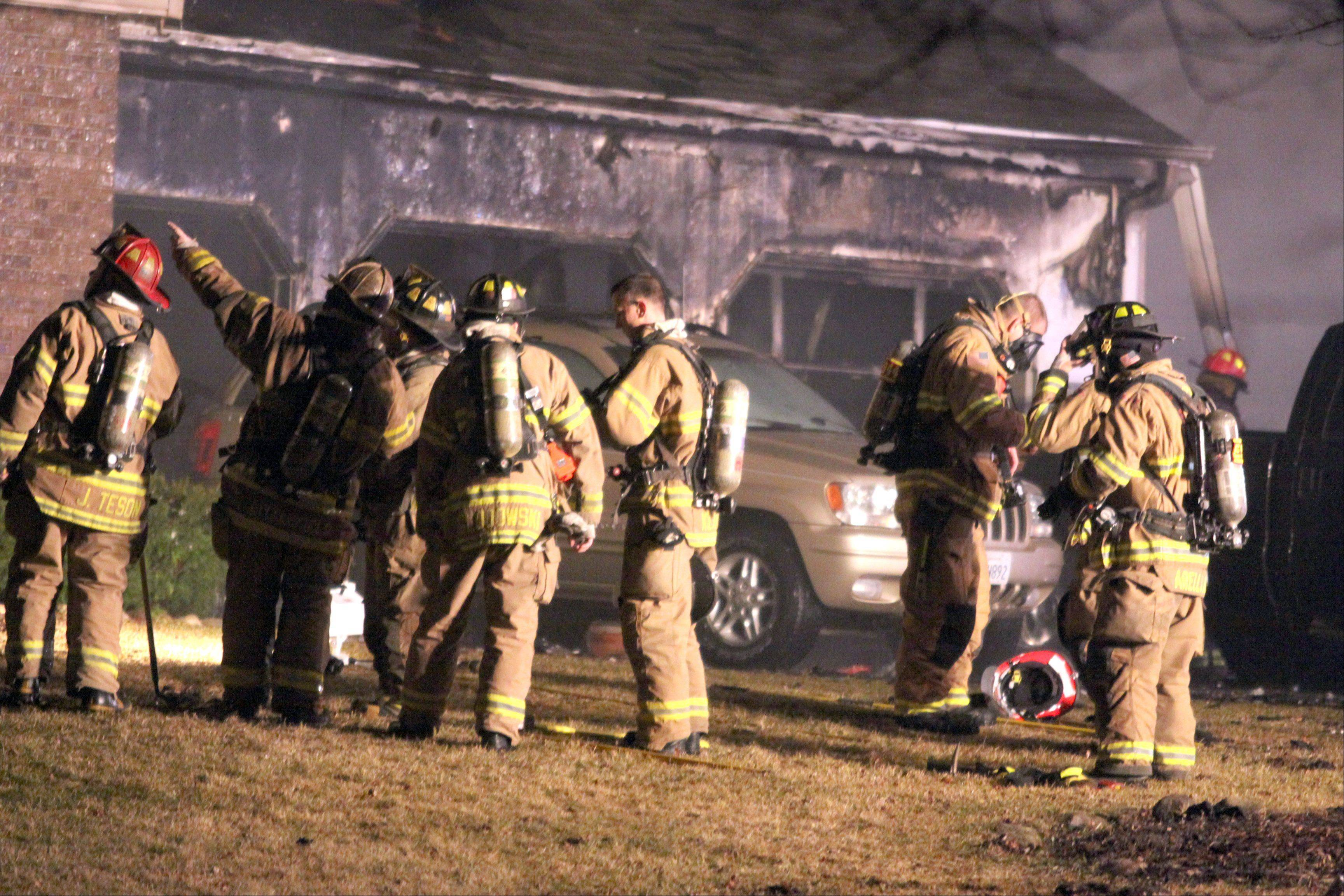 The fire in Algonquin started in the garage and spread to the rest of the house Monday night.