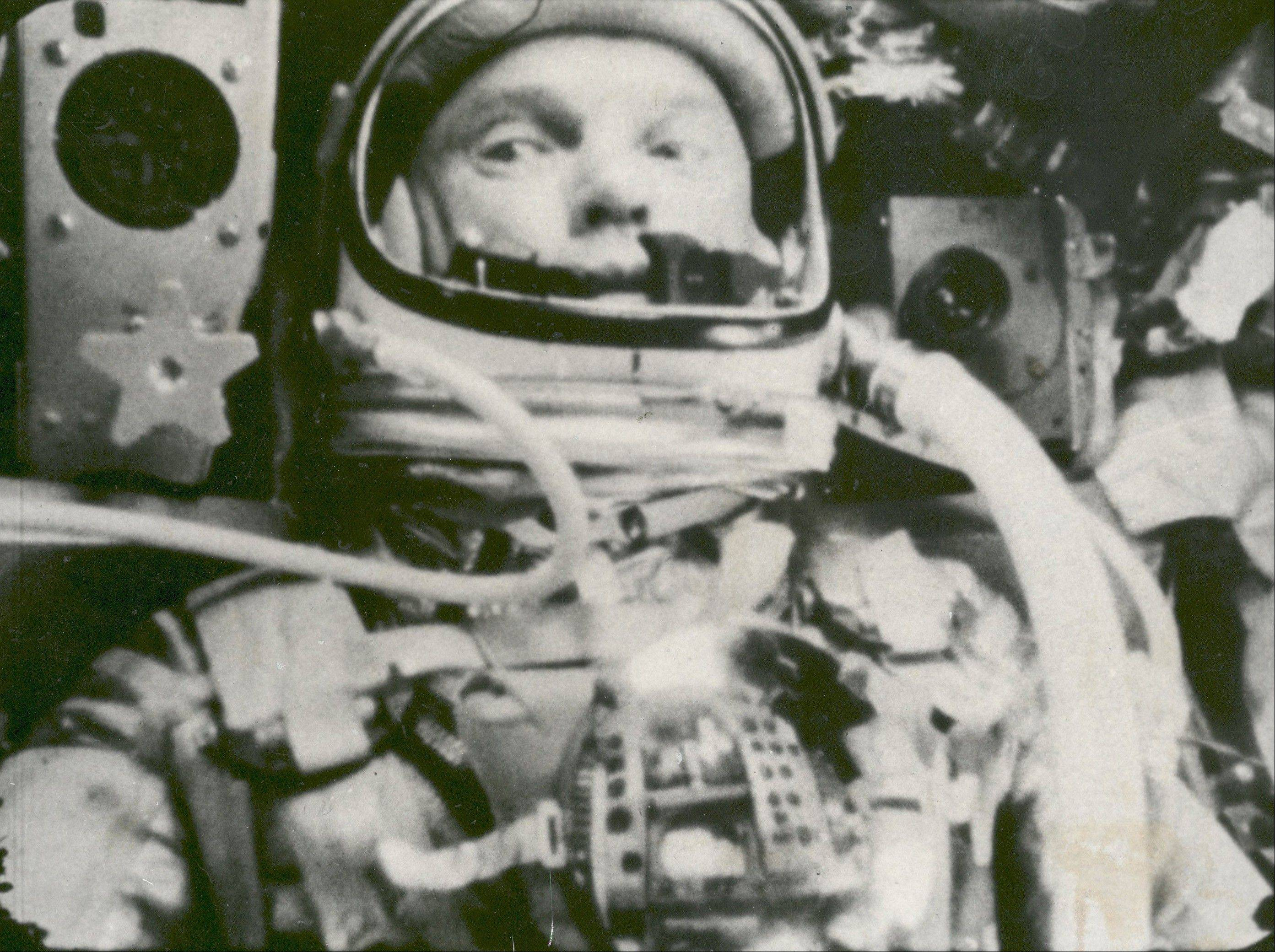 This Feb. 20, 1962 file photo made available by NASA shows astronaut John Glenn during his space flight in the Friendship 7 Mercury spacecraft, weightless and traveling at 17,500 mph. The image was made by an automatic sequence motion picture camera. Glenn plans to mark the 50th anniversary of his historic spaceflight, Monday, Feb. 20, 2012, with a series of events at Ohio State University, including a special dinner and a live chat with crew members aboard the International Space Station.