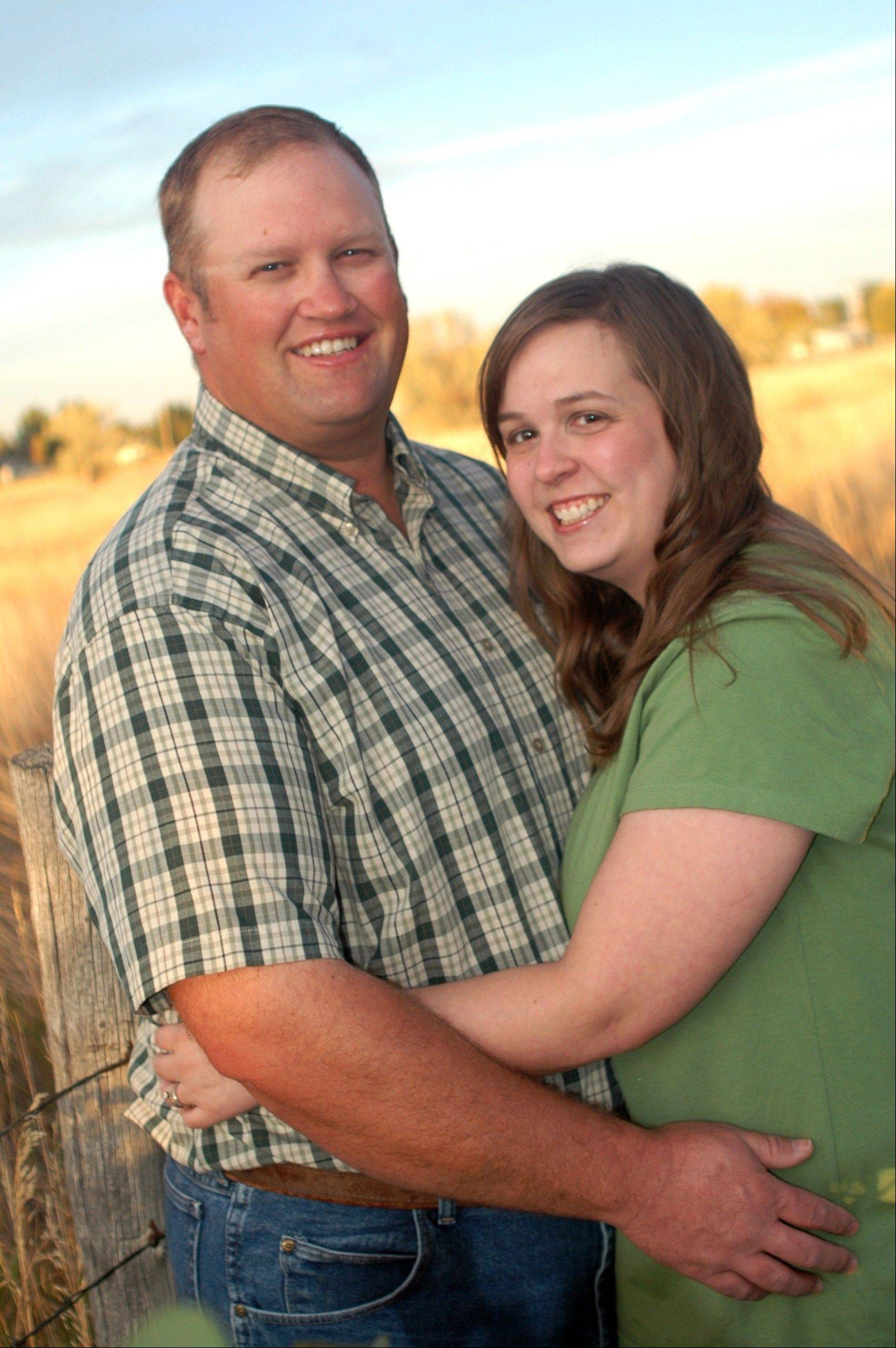 This September 2010 photo provided by Shalee Brown shows Richard B. Vest , left, and his wife Rebecca O. Vest in Rigby, Idaho. The Vests can't conceive children, or understand why Amy Slanina, who knew that they couldn't conceive, pretended to be pregnant and persuaded them to fly from Idaho to Pennsylvania five days after Christmas to ìadoptî a baby that didn't exist.