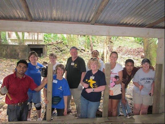 Members from Rotary District 6640 complete a deck at Ak'Tenamit School in Guatemala as part of a Rotary International trip this month.