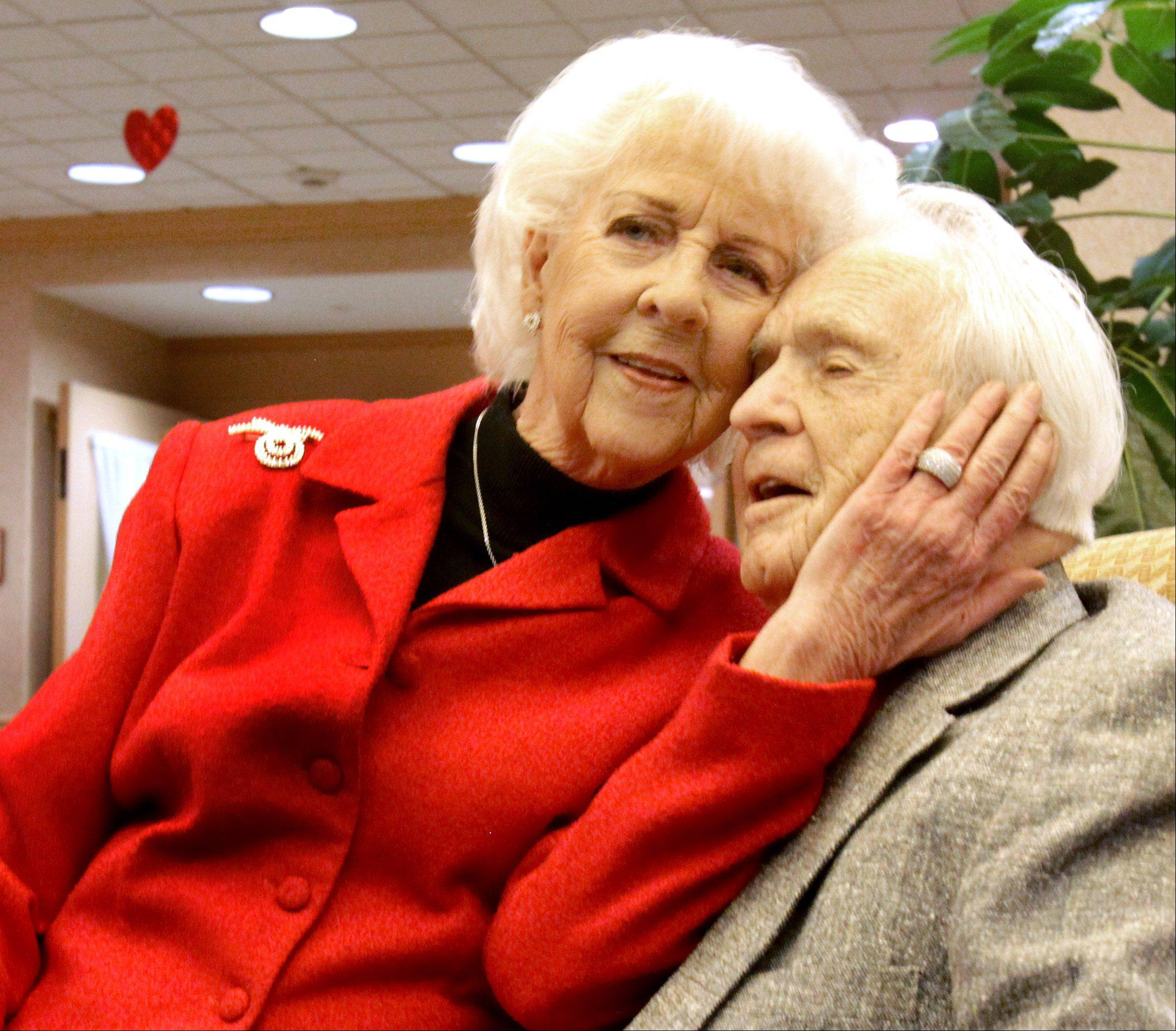 Dale and Doris Chatfield of Aurora were recognized for 73 years of marriage by the state of Illinois and Chicago-Gary Diocese for World Wide Marriage Encounter on Friday at Alden Gardens of Waterford assisted living.